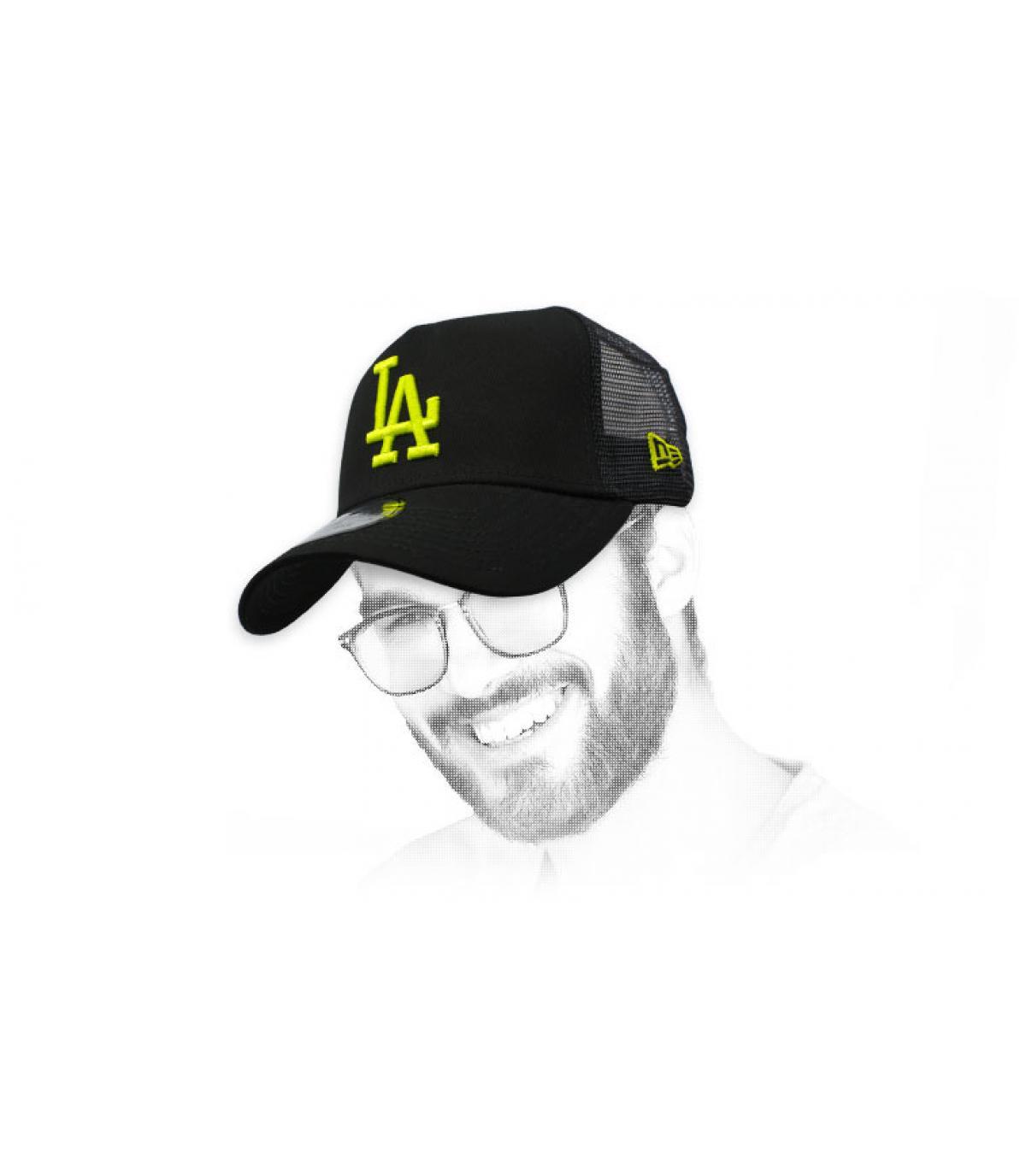 trucker LA nero giallo