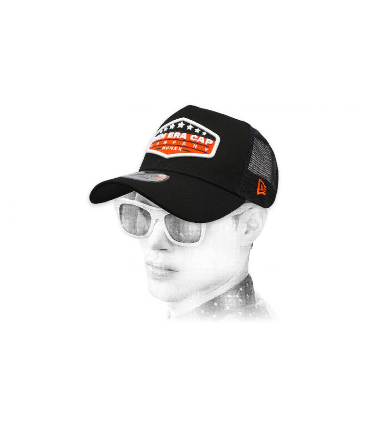 patch Newer trucker nero arancio