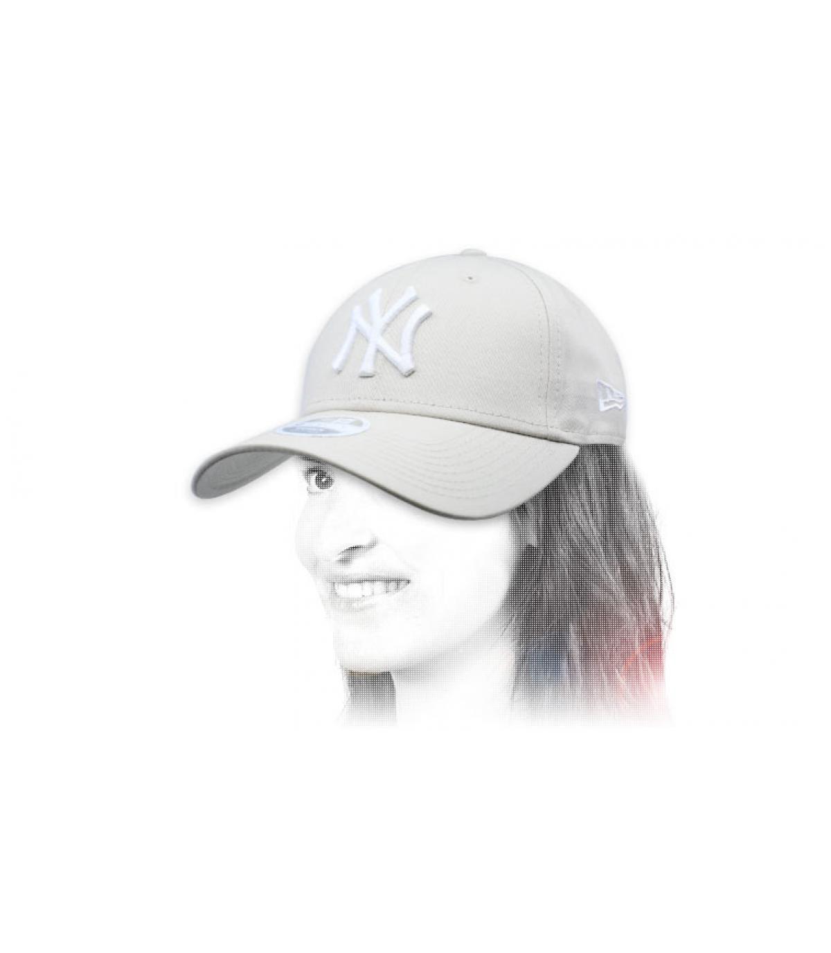 NY cap donna beige