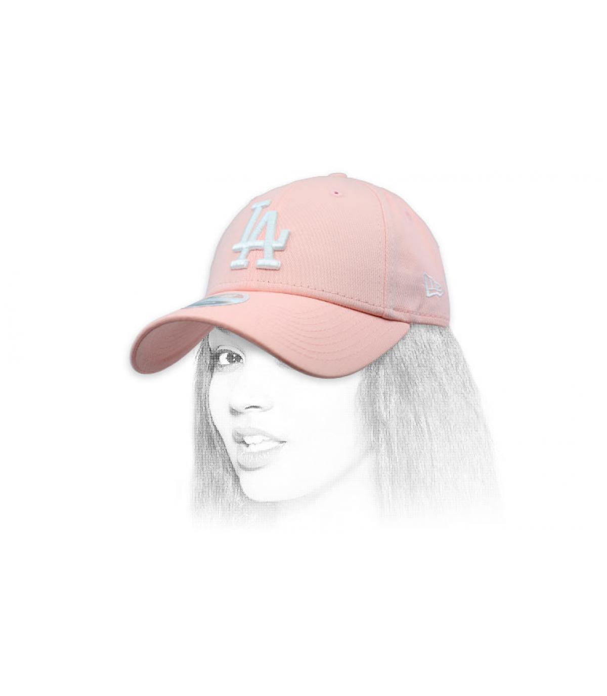 cap LA donna rosa