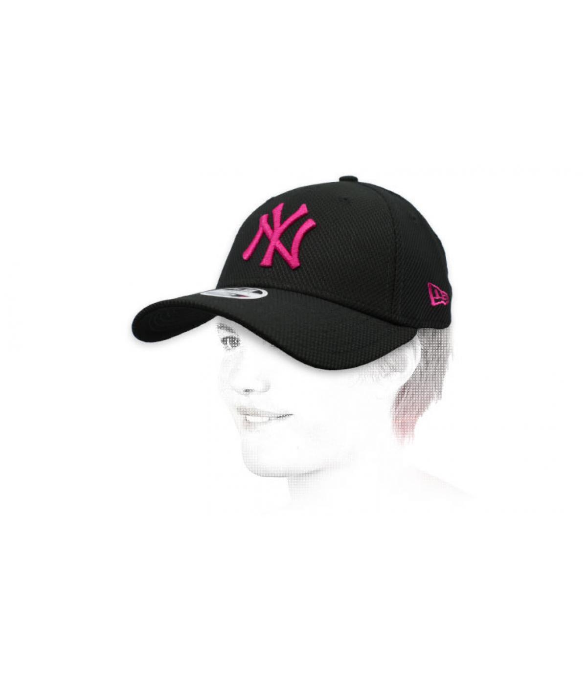 NY cap donna nero rosa