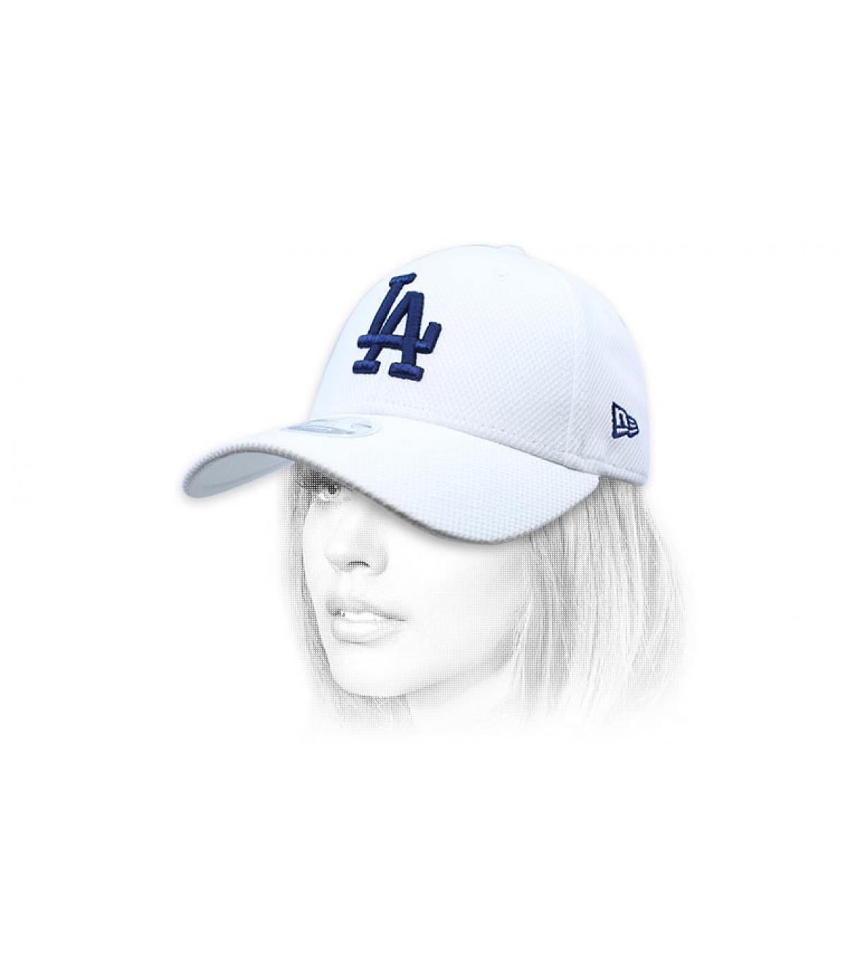 berretto LA donna bianco blu