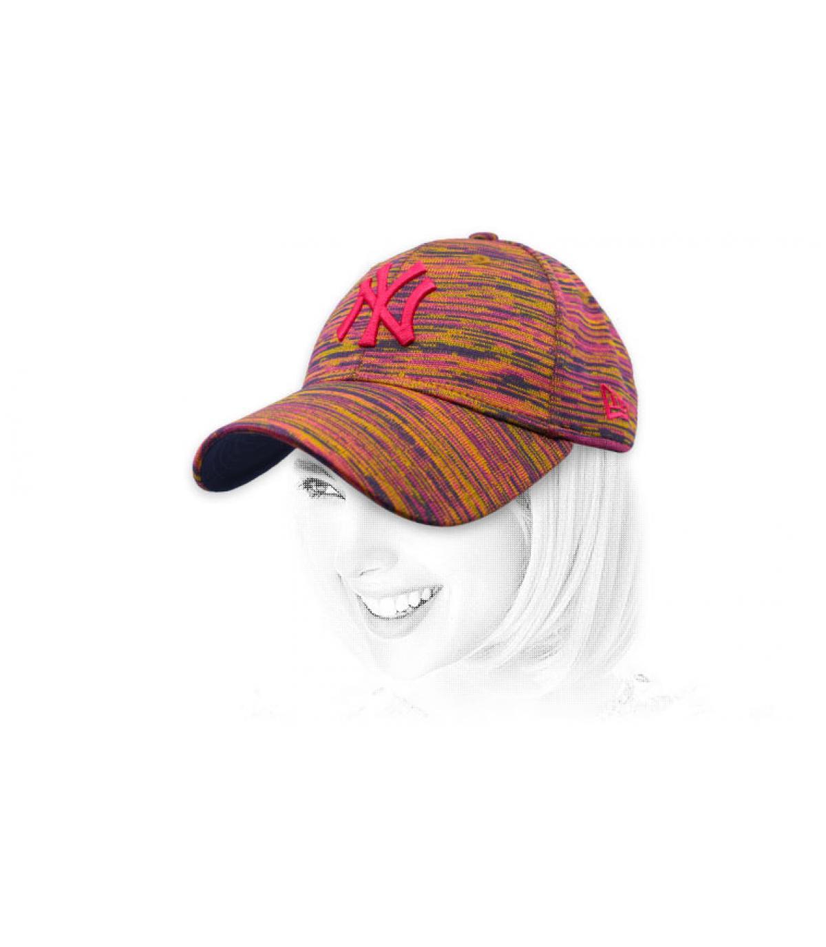 NY donna berretto beige bordeaux