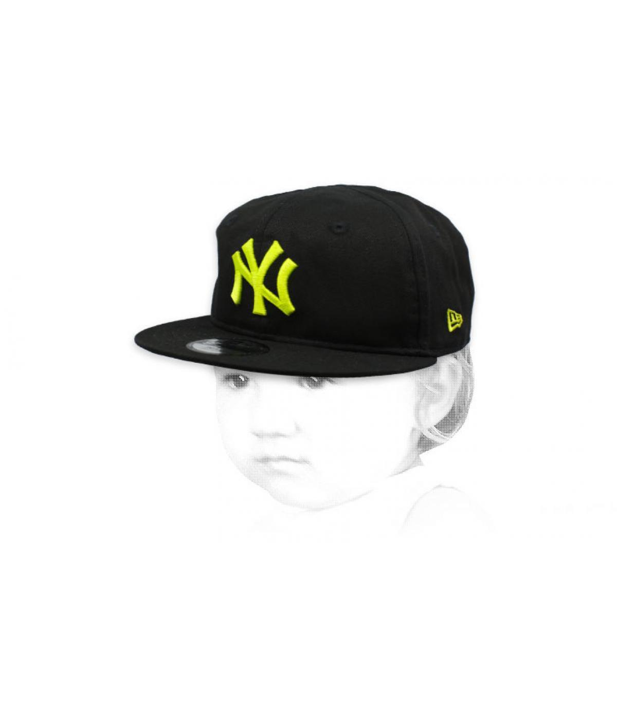 cuffietta NY nero giallo