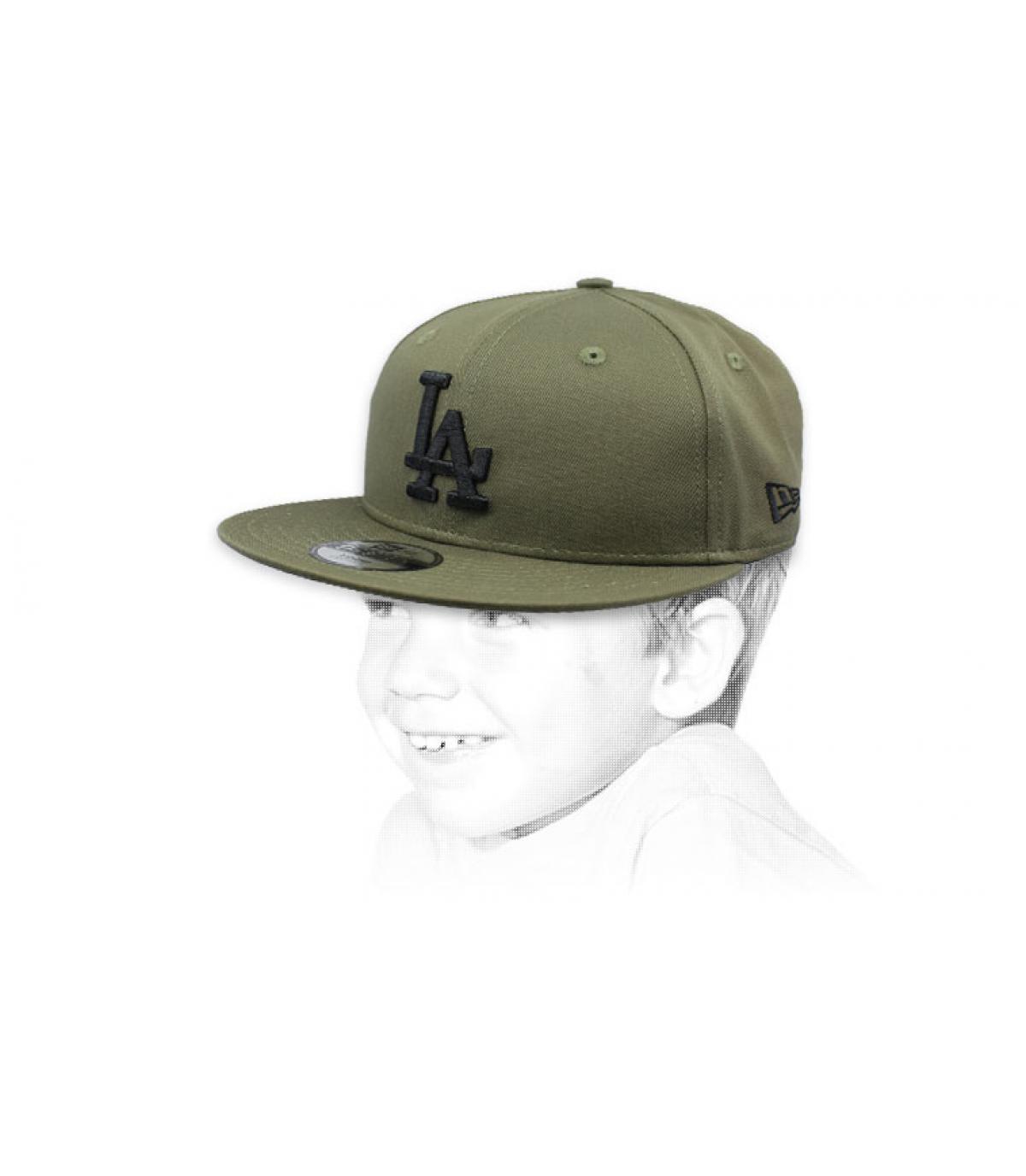 berretto bambino LA verde nero