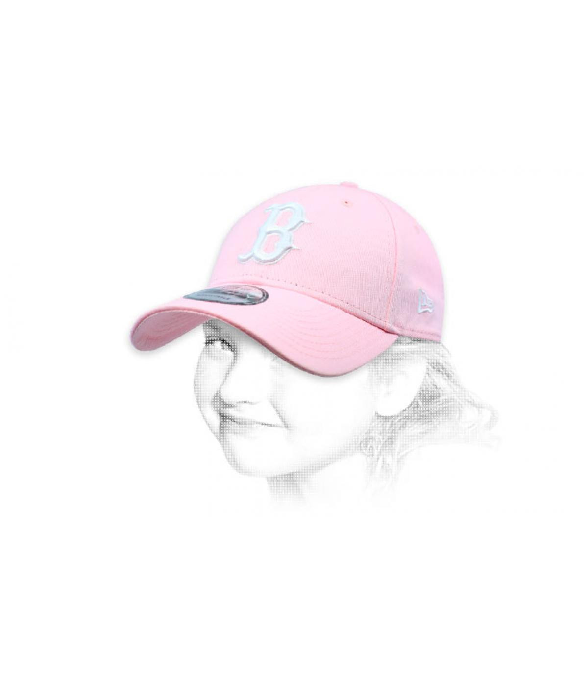 B cap bambino rosa