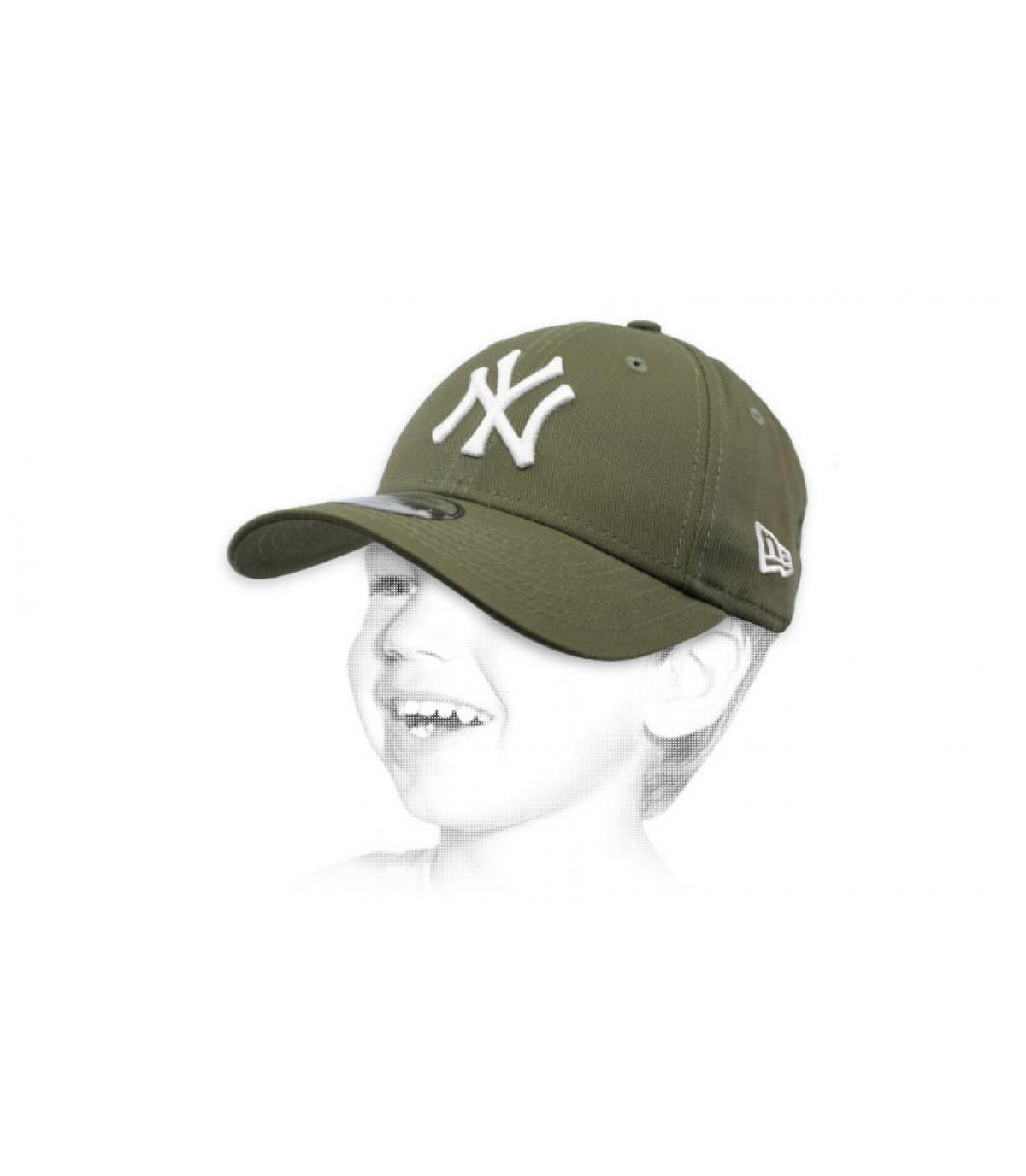 NY berretto bambino verde