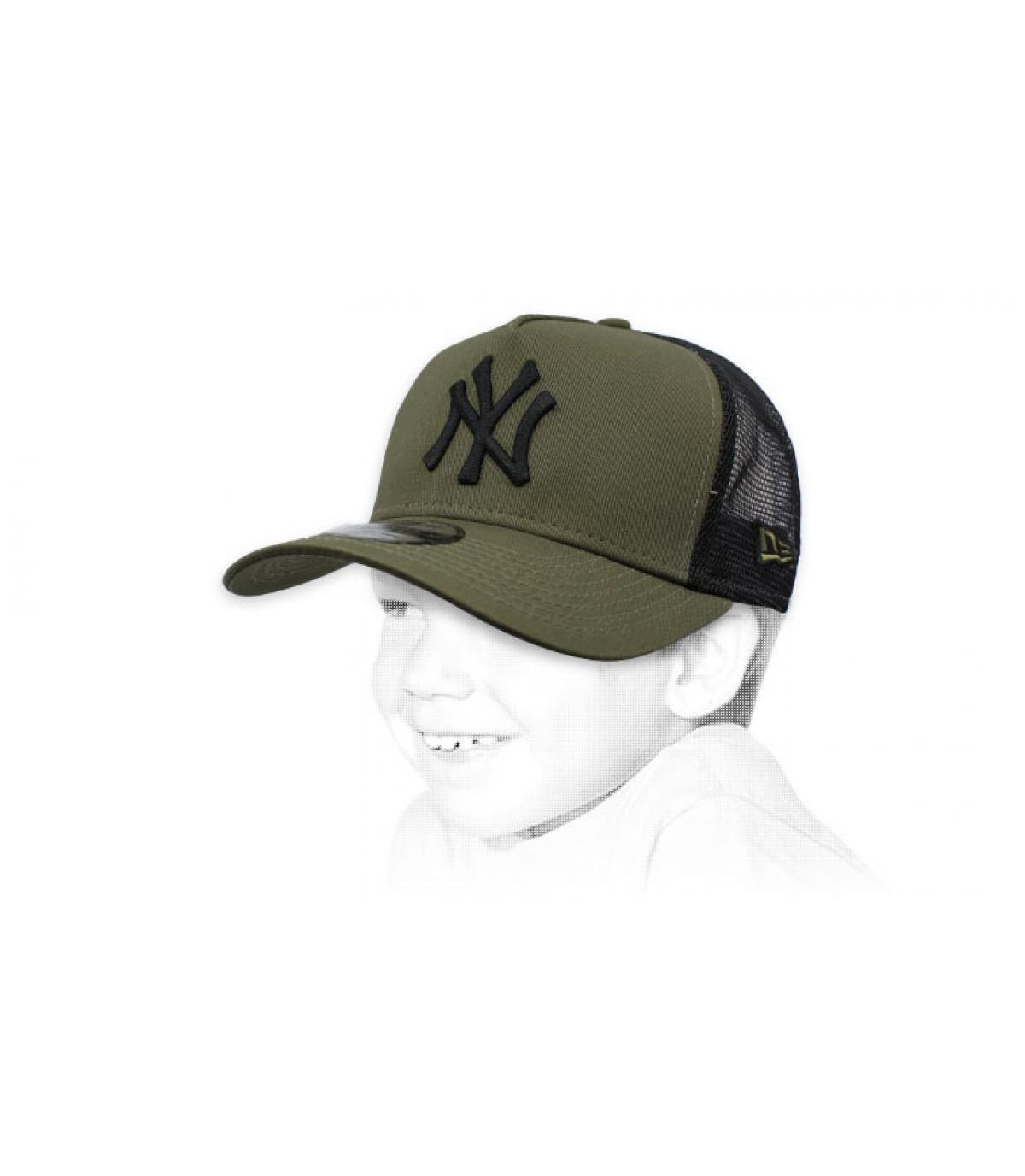 NY trucker bambino verde