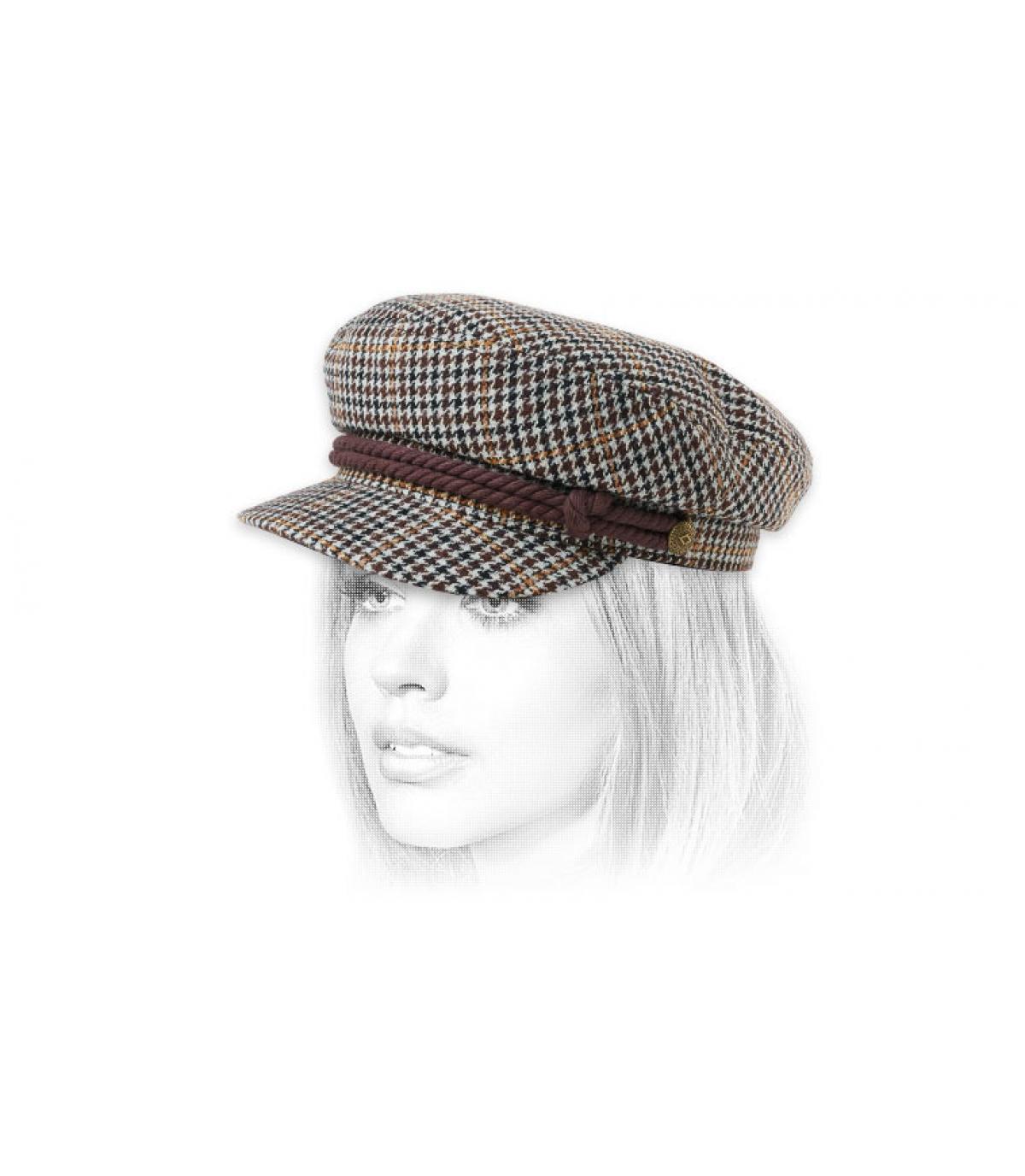berretto da marinaio marrone Brixton