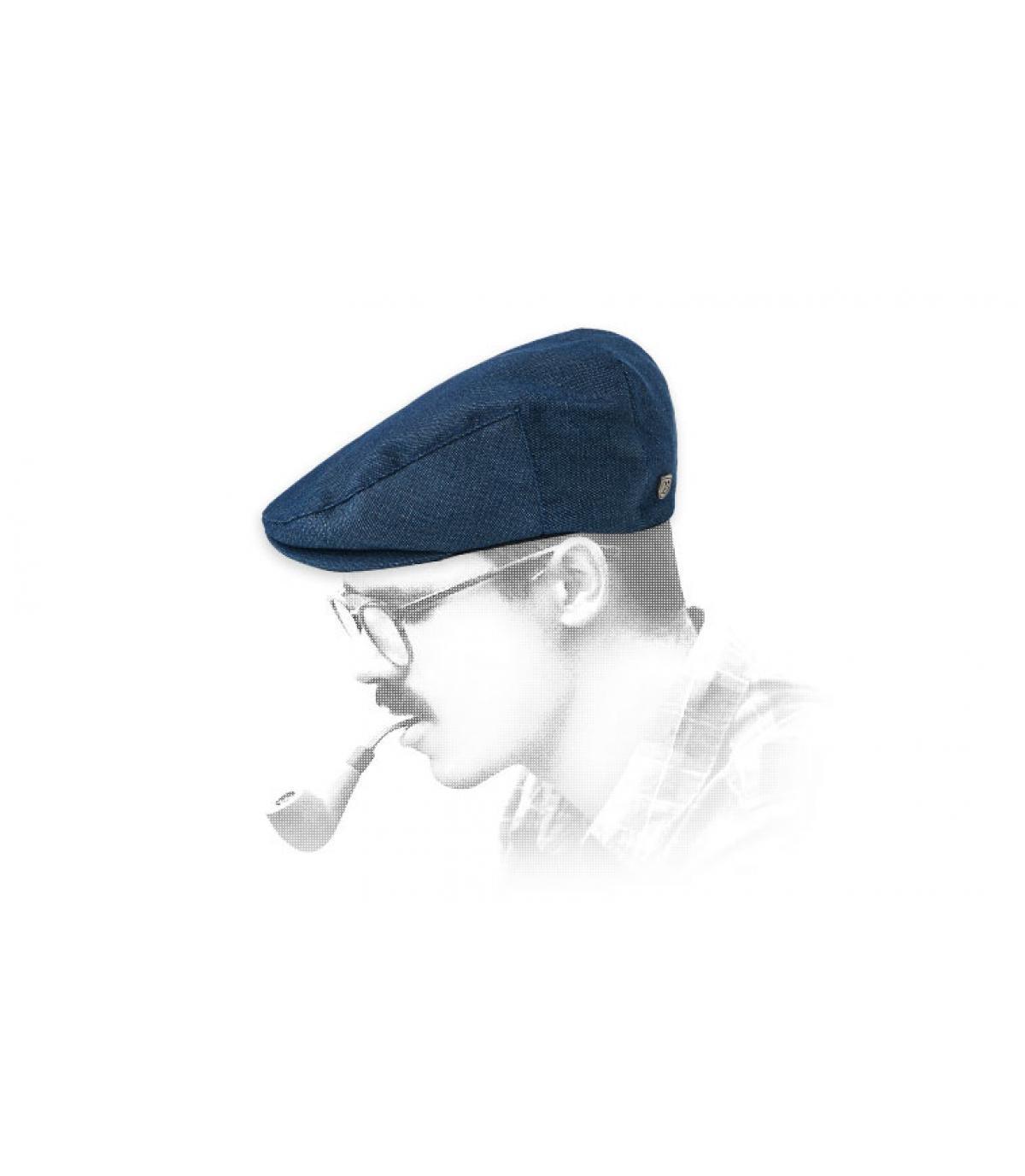 Berretto blu Brixton