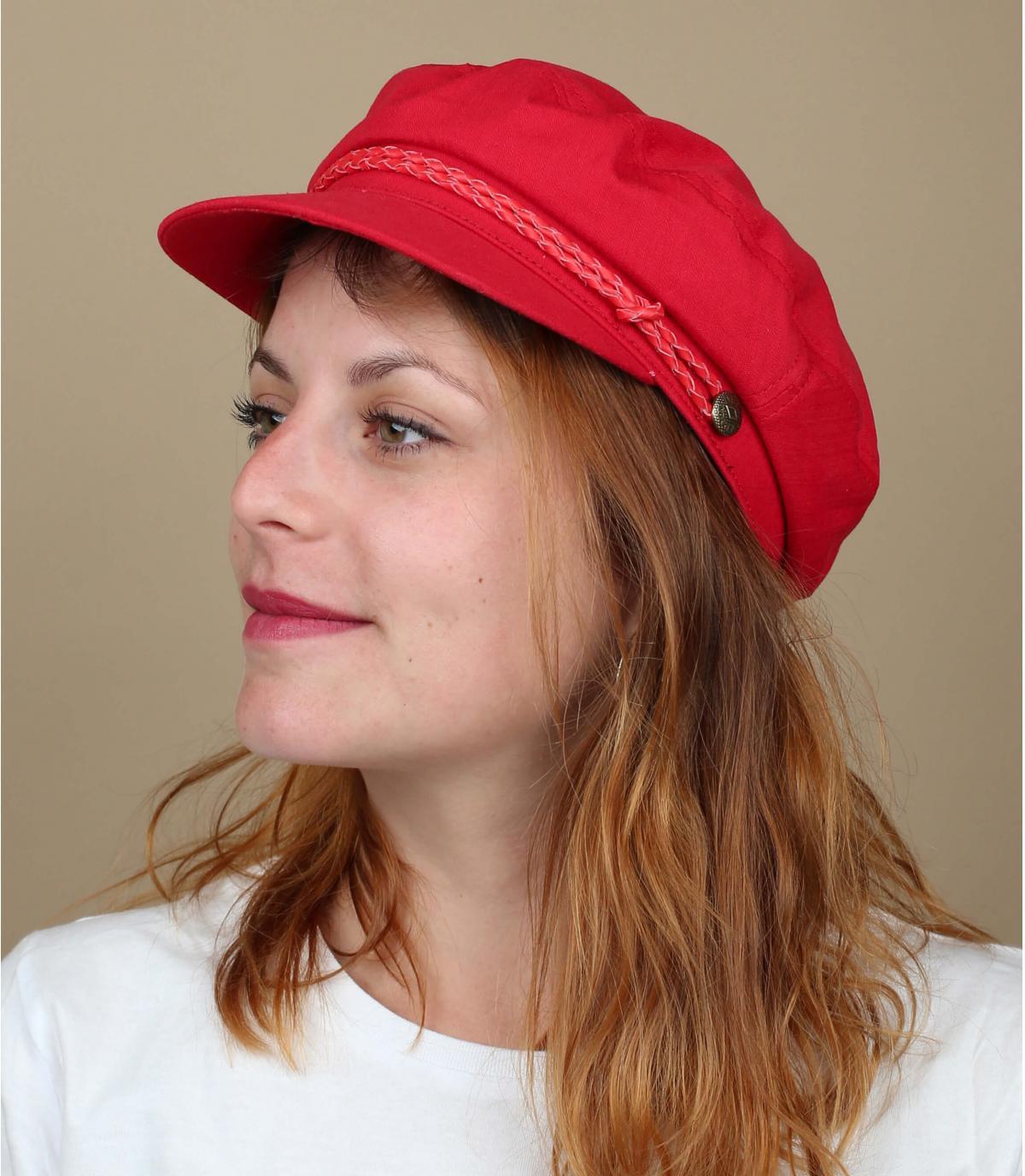 Brixton berretto da marinaio rosso