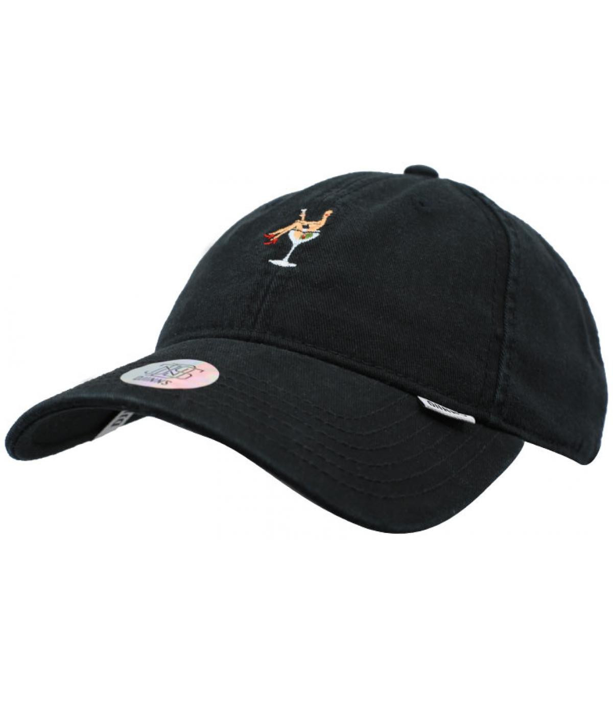 cappello nero da cocktail