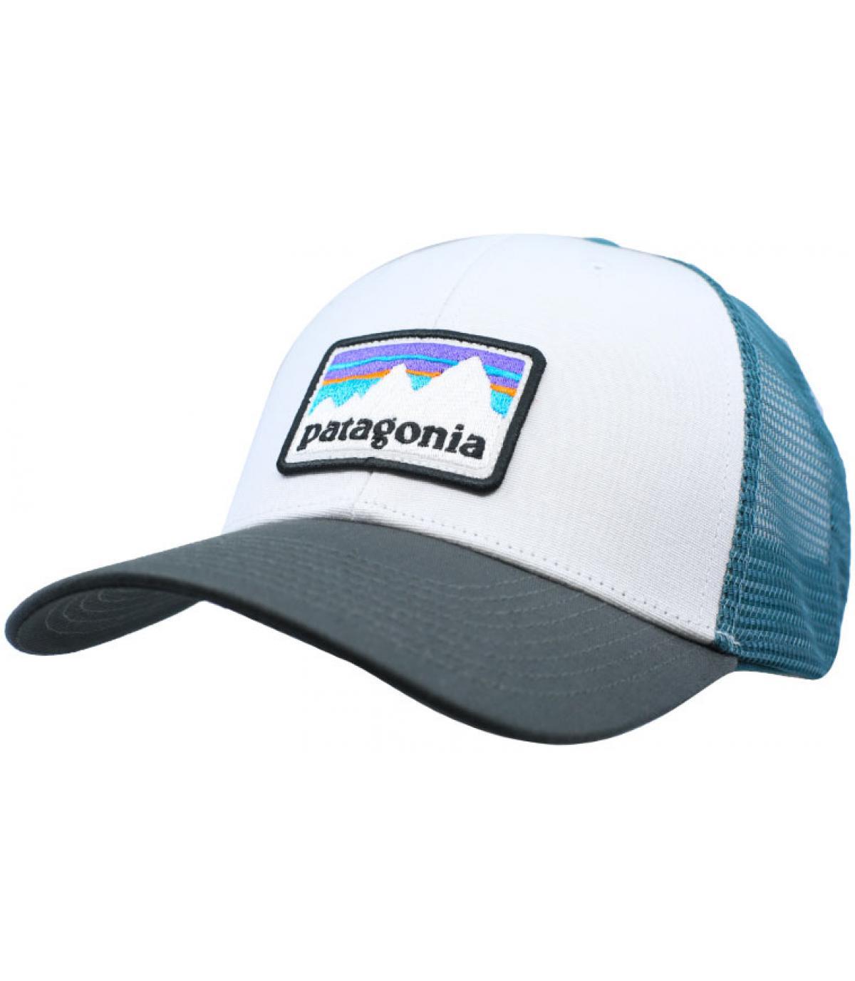 trucker Patagonia bianco blu