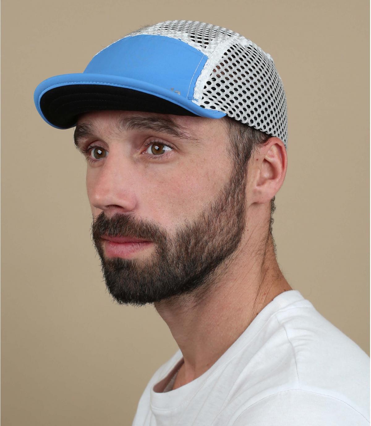 Cappellino da corsa blu Patagonia