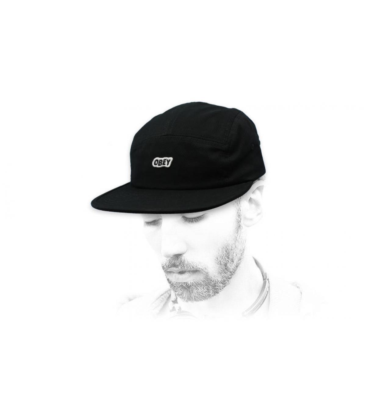 Obey pannello 5 con cappuccio nero