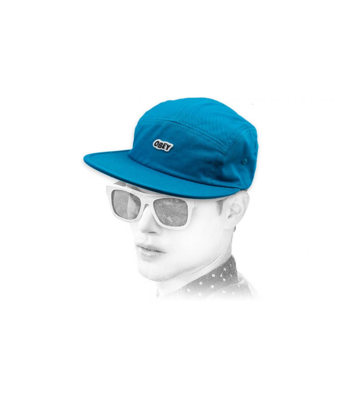 Obey pannello blu del cappuccio 5