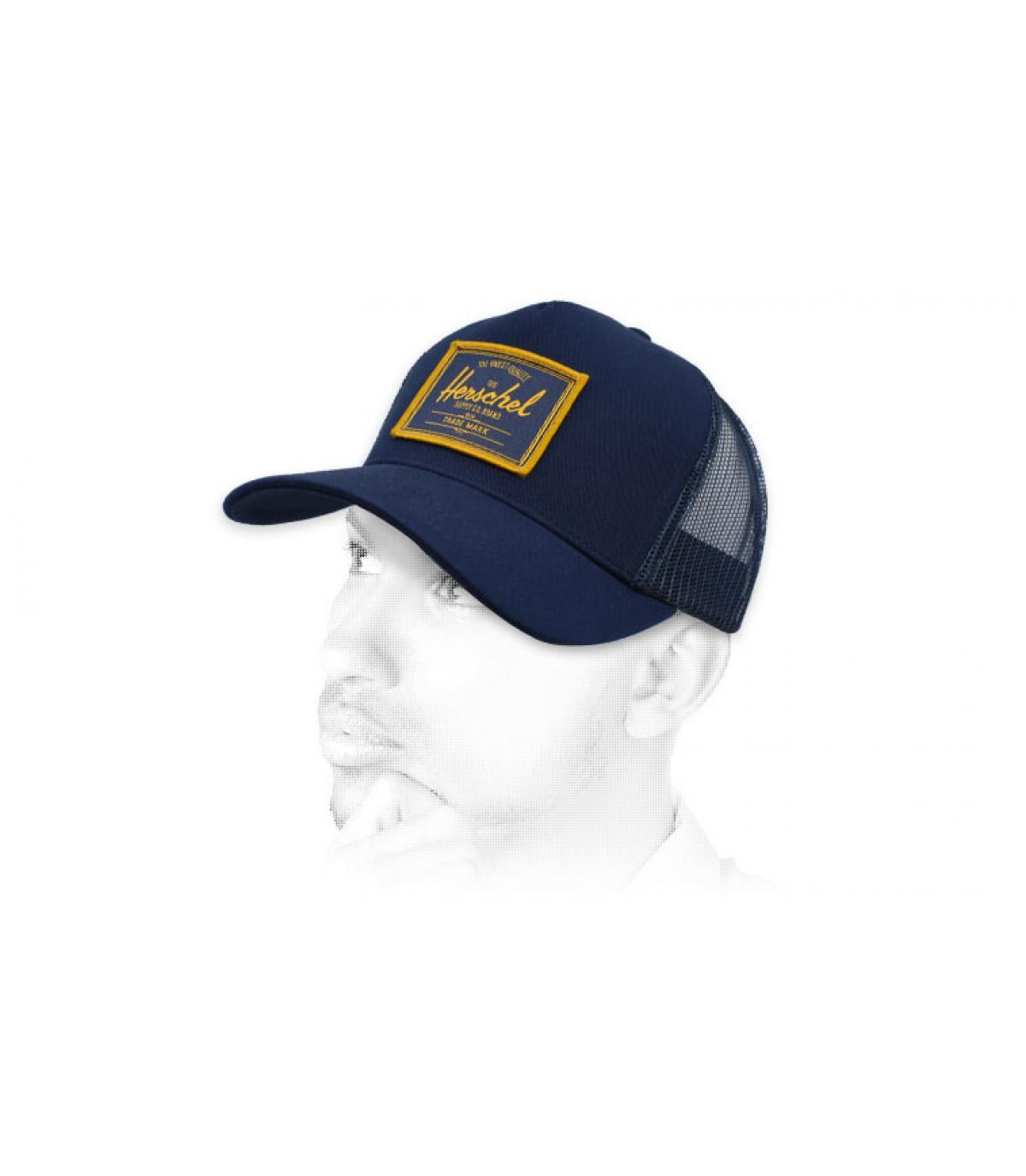 trucker Herschel blu patch