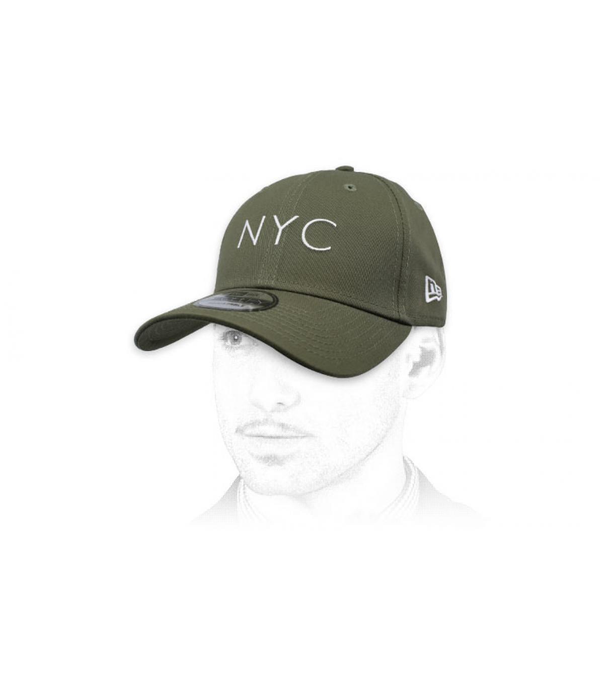 Berretto verde oliva NYC