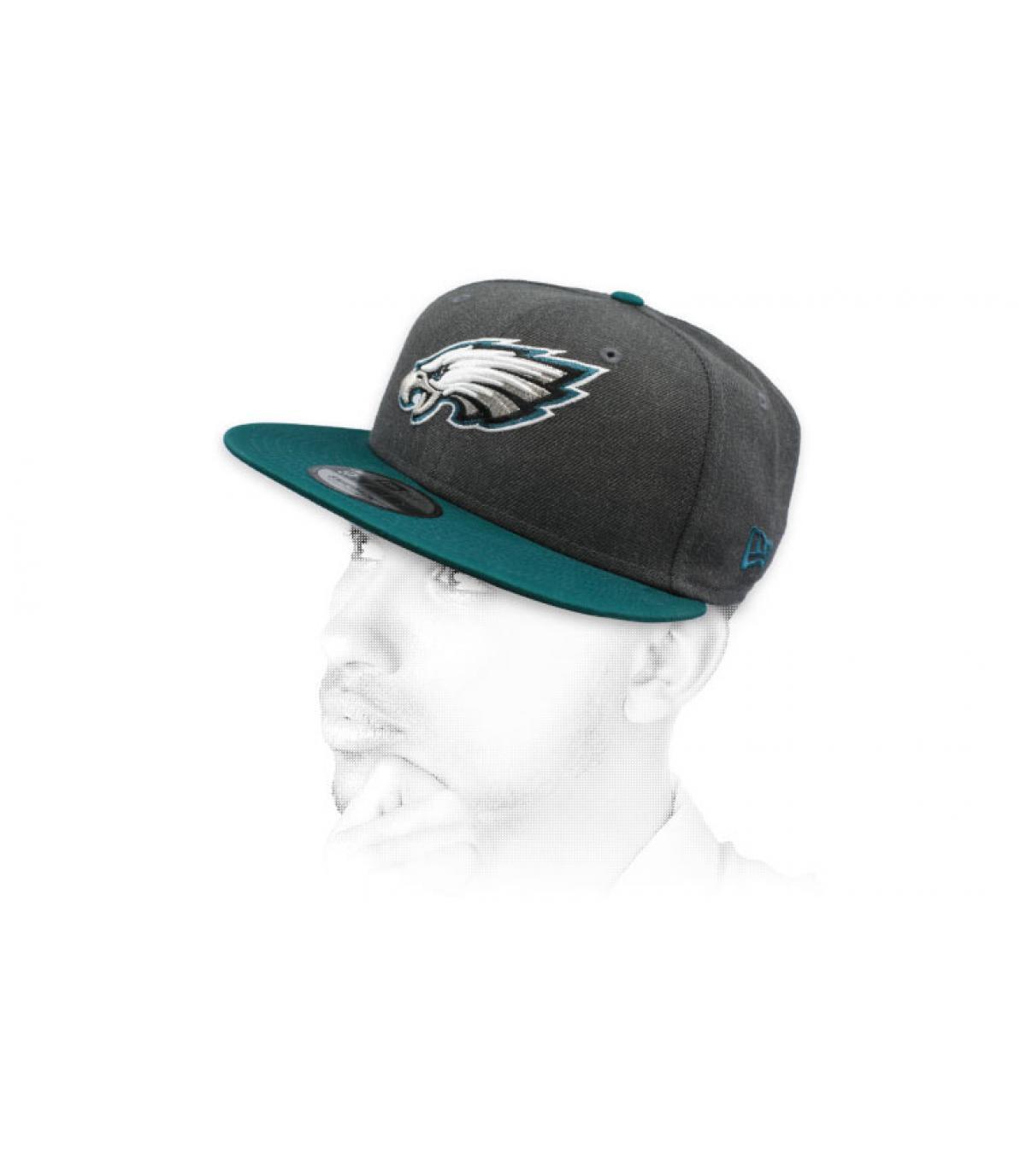 snapback grigio Eagles