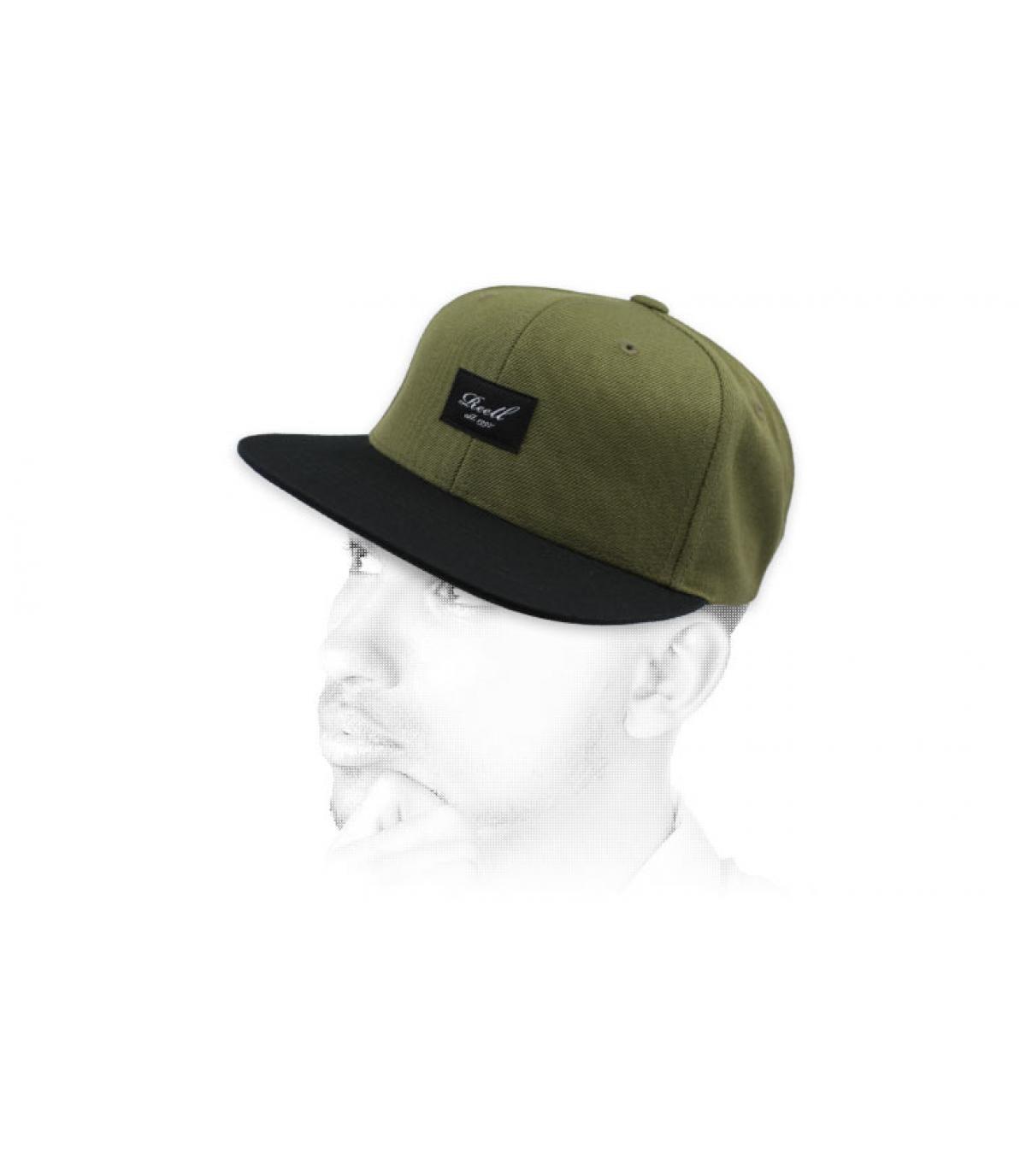snapback nero verde Reell