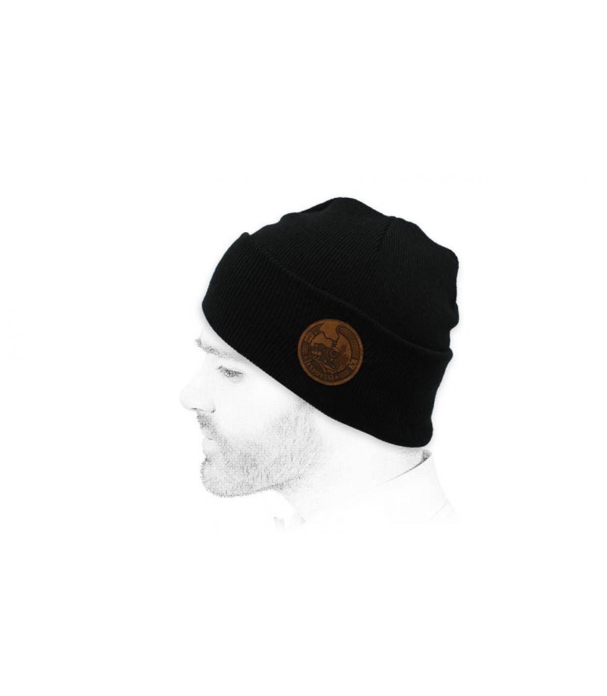 cappello del treno espresso nero