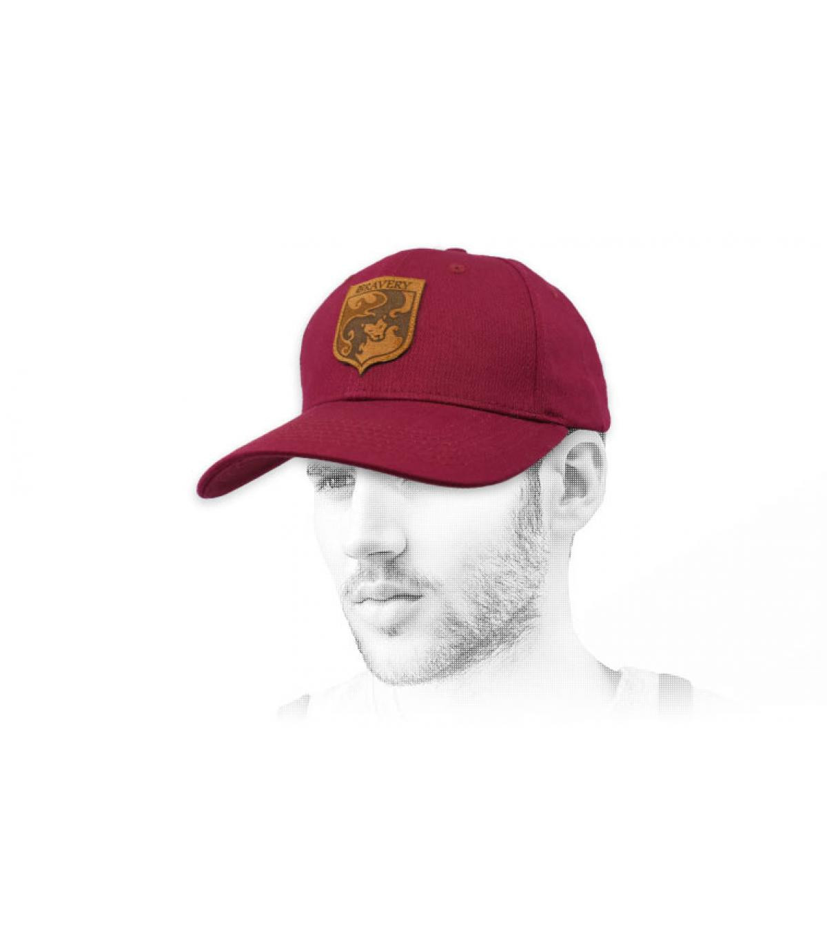Bravery burgundy cap