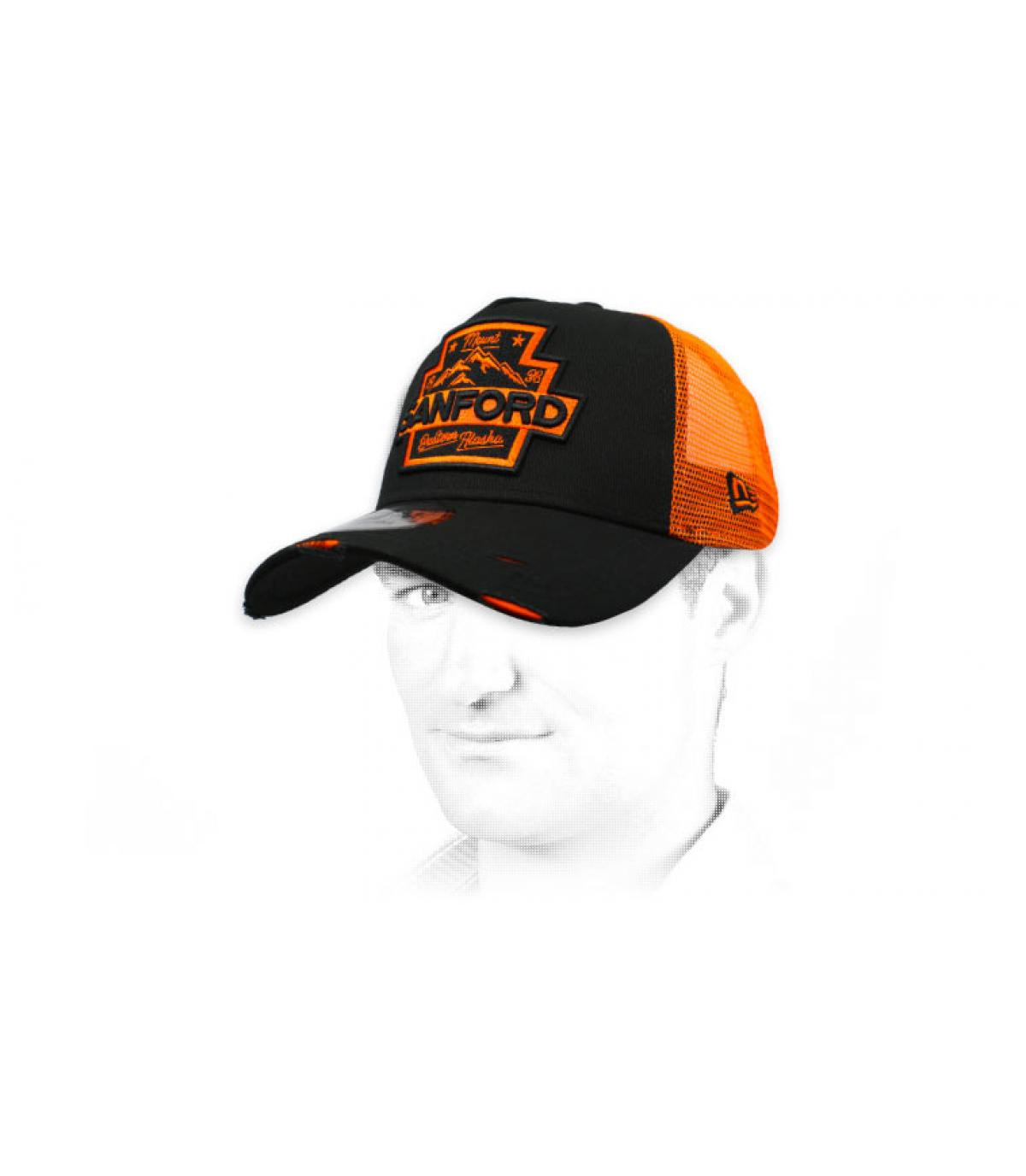 trucker Sanford nero arancio