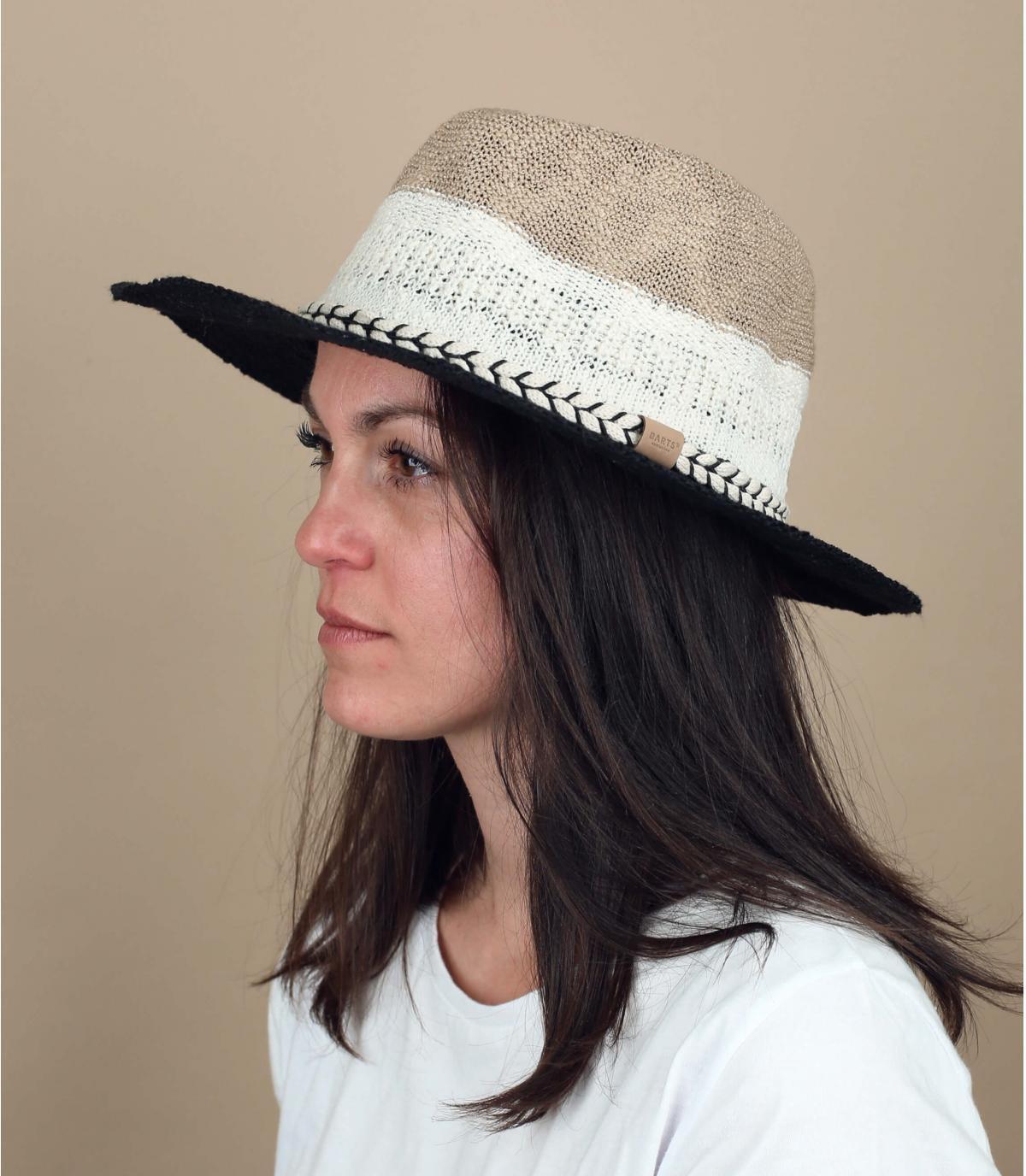 cappello di cotone a strisce