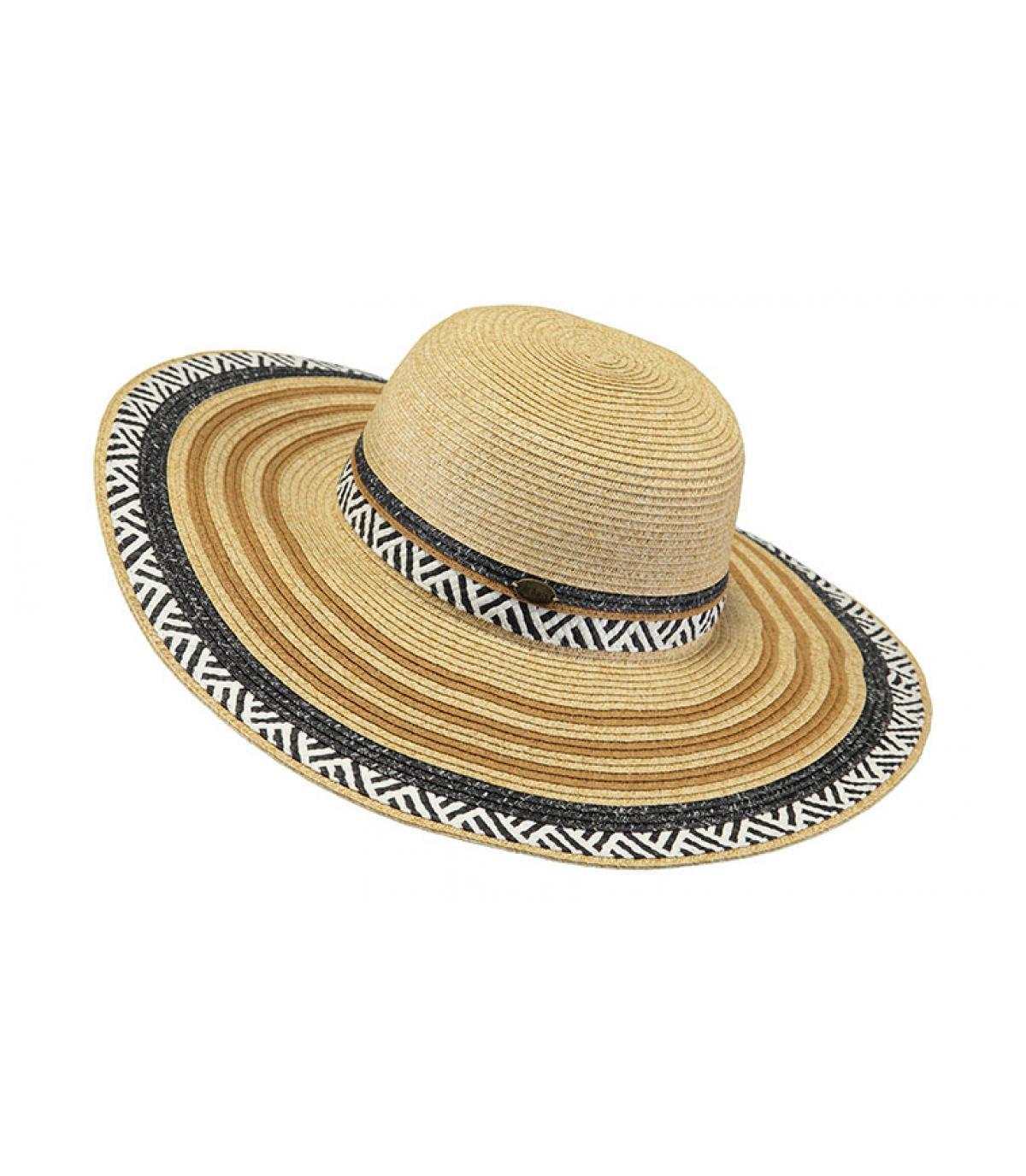 cappello di paglia a strisce
