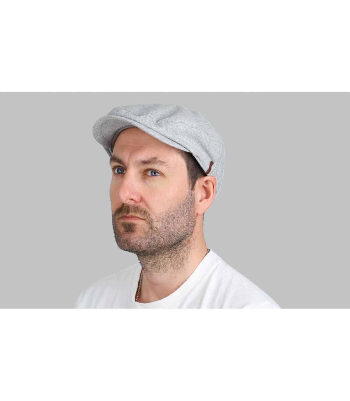 berretto di cotone grigio