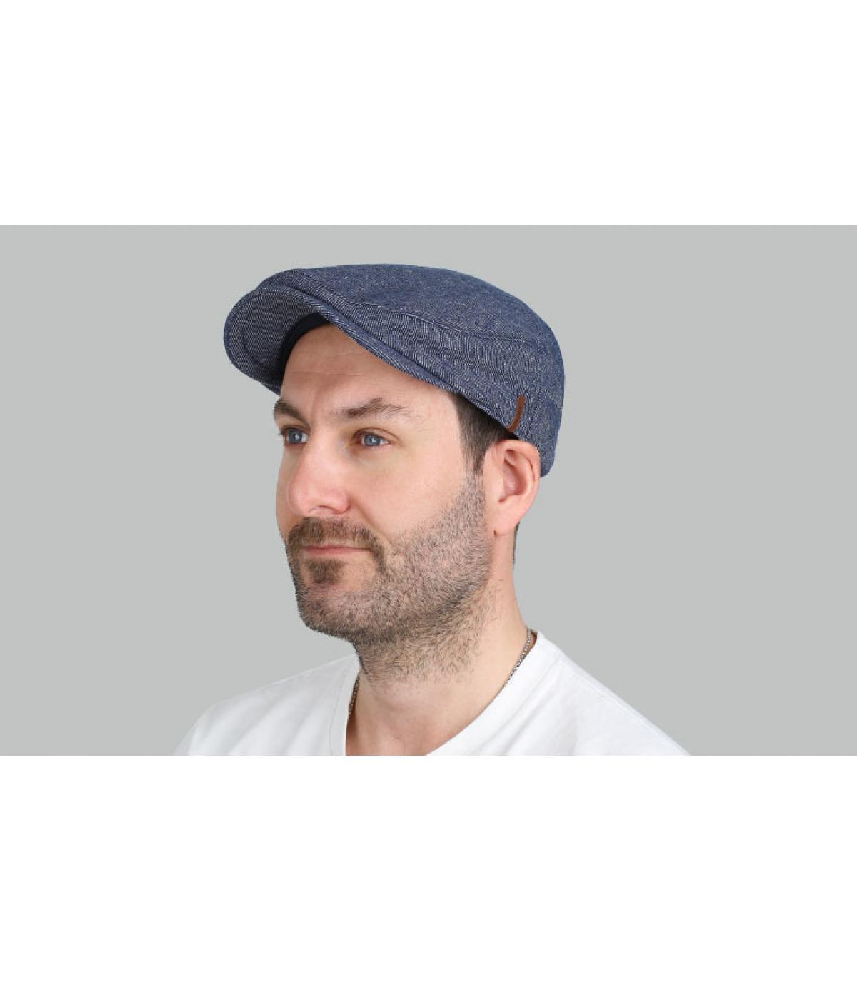 berretto di cotone blu