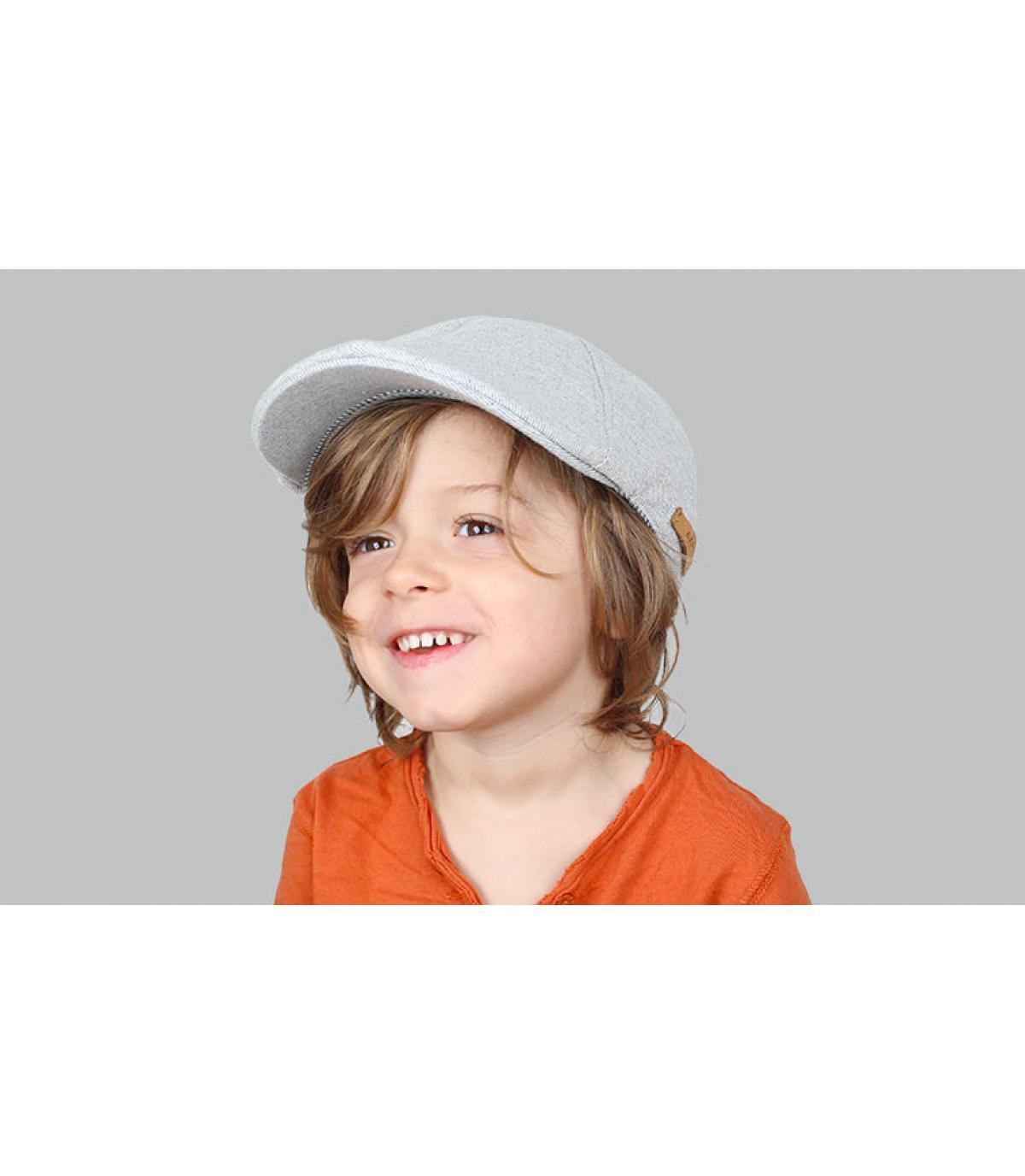 berretto grigio bambino