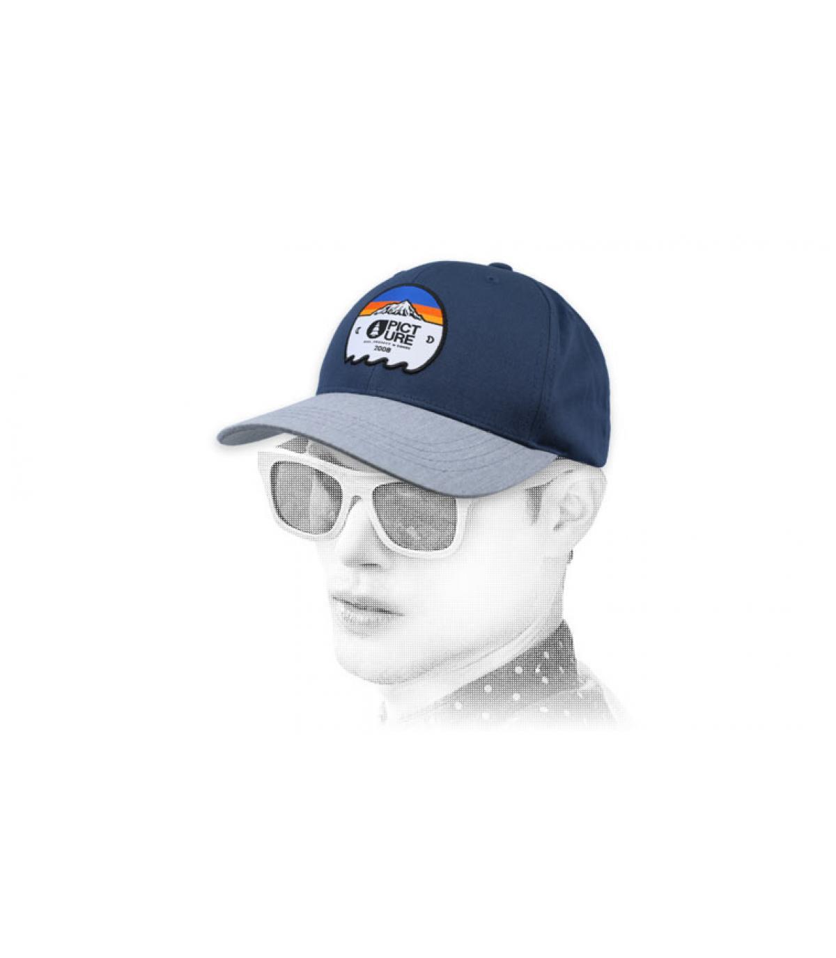 Picture cap blu