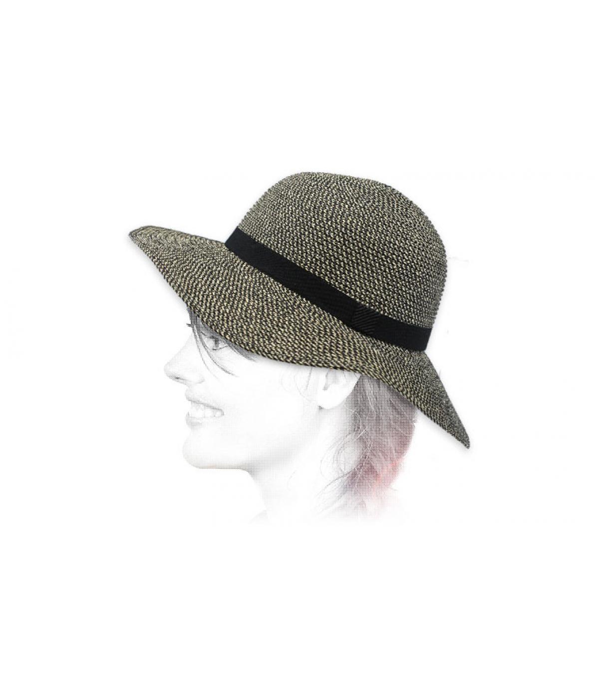 cappello di paglia nero