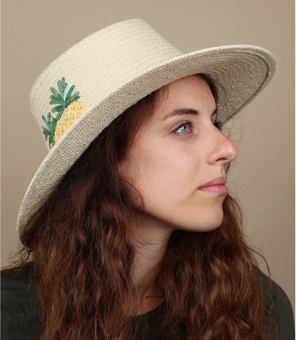 cappello di paglia di ananas