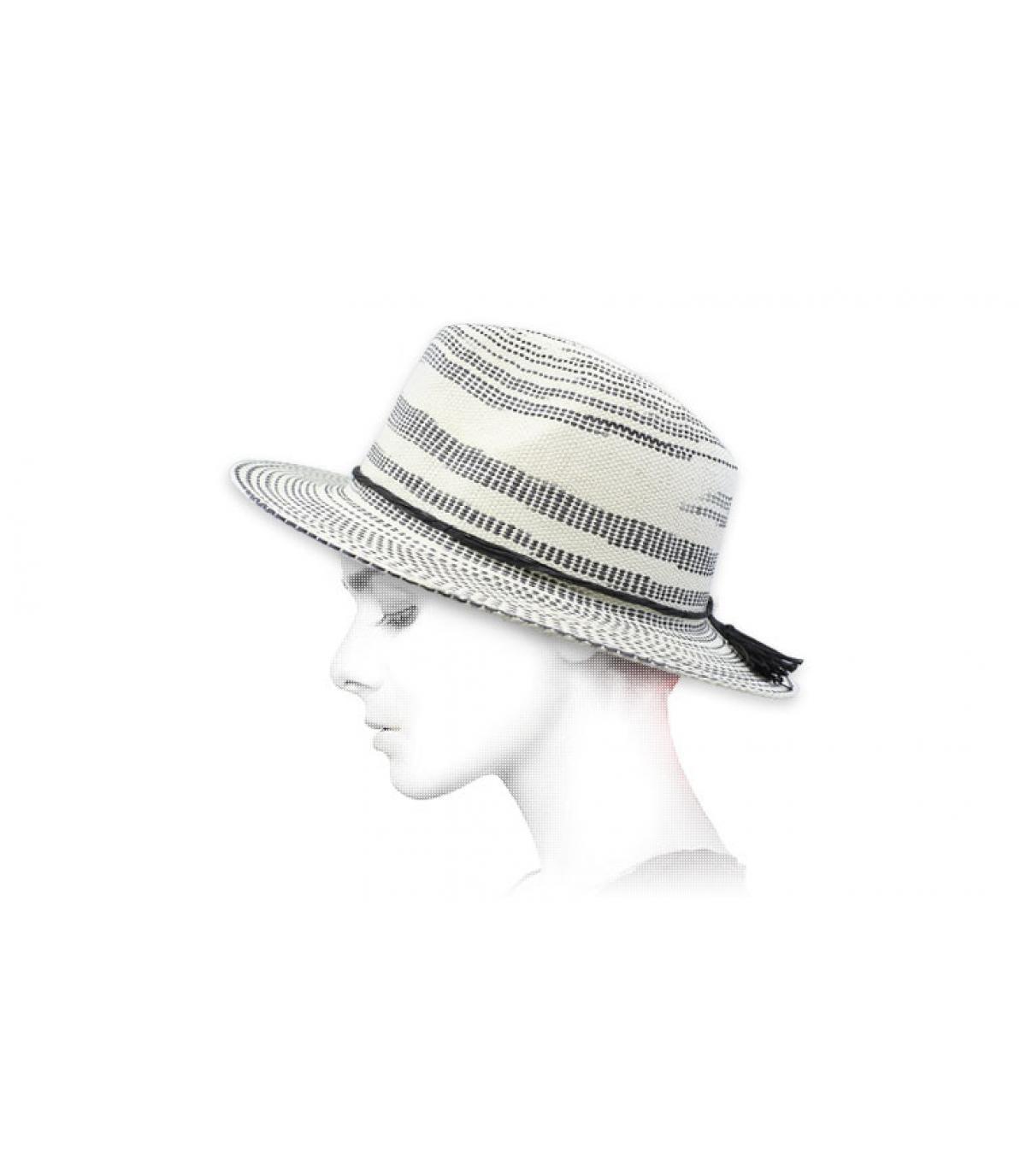 strisce di cappello di paglia