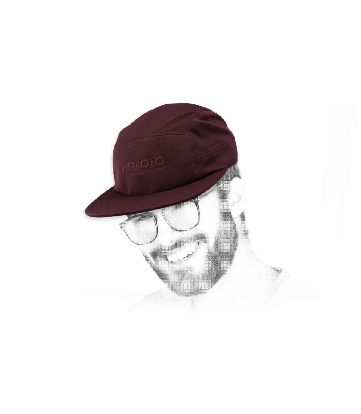 Cappellino Wemoto bordeaux a 5 pannelli
