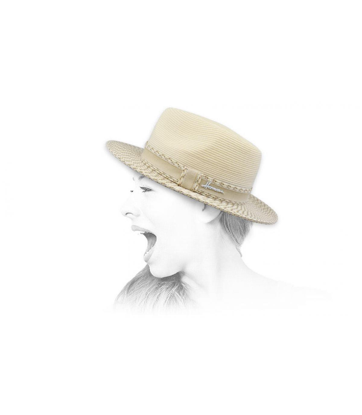 fedora bianco idrorepellente