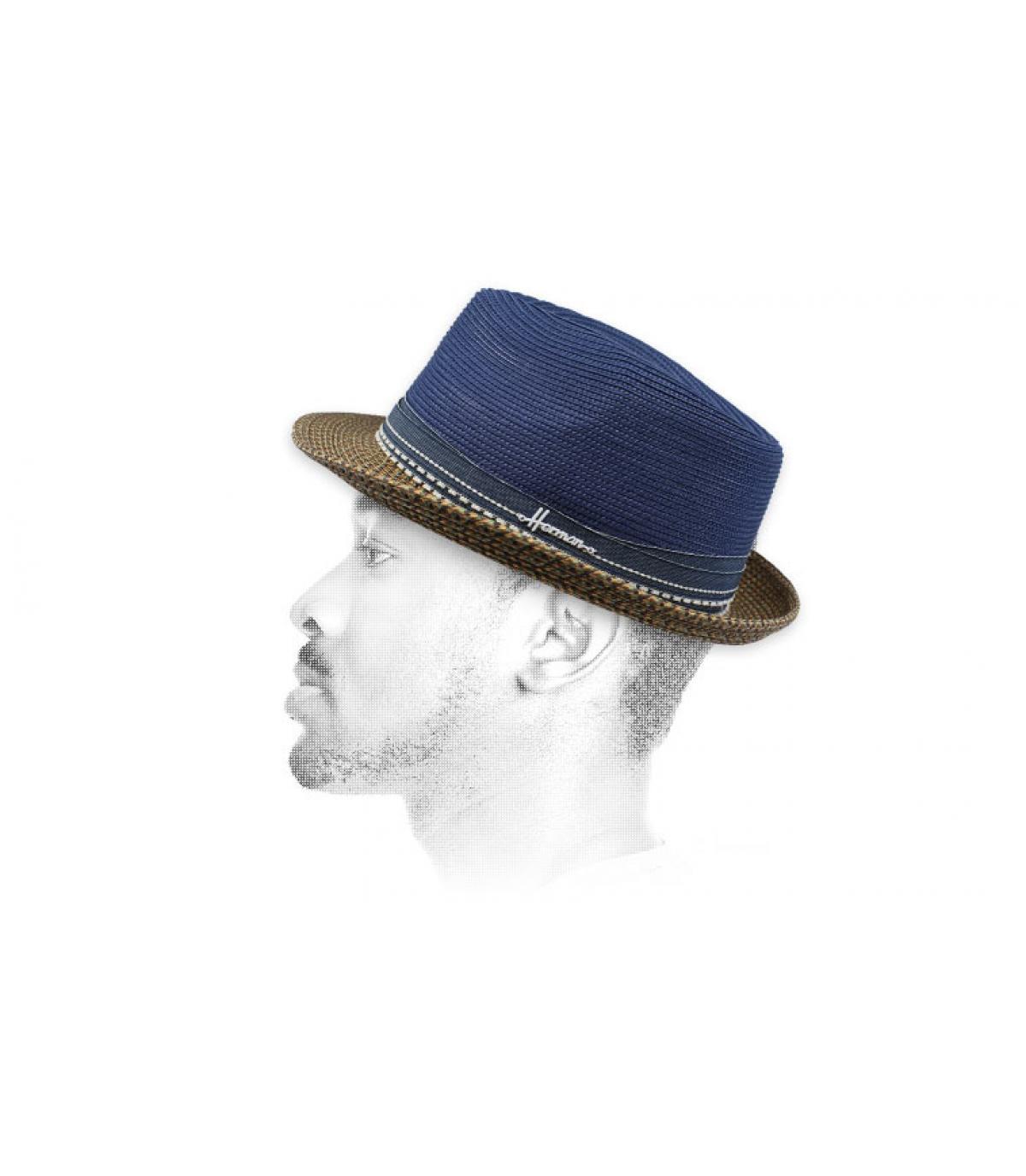 cappello blu idrorepellente