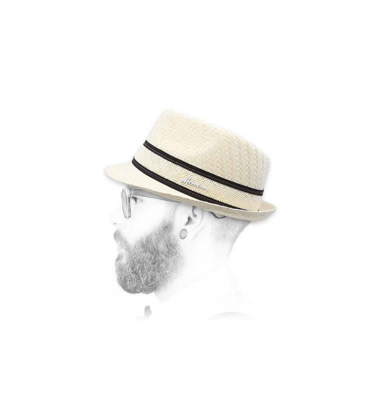 trilby paglia bianca