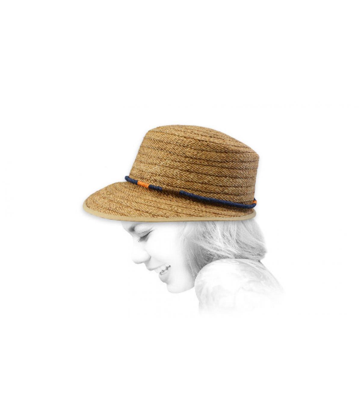 cappello visiera di paglia