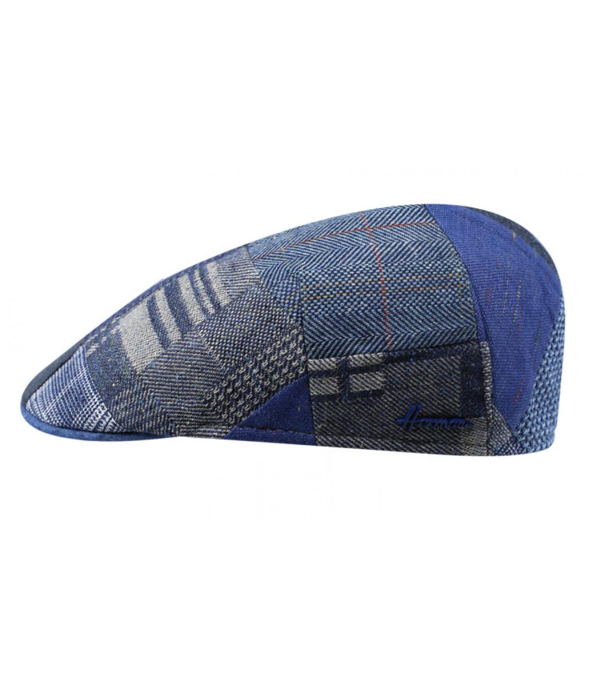 Berretto patchwork blu