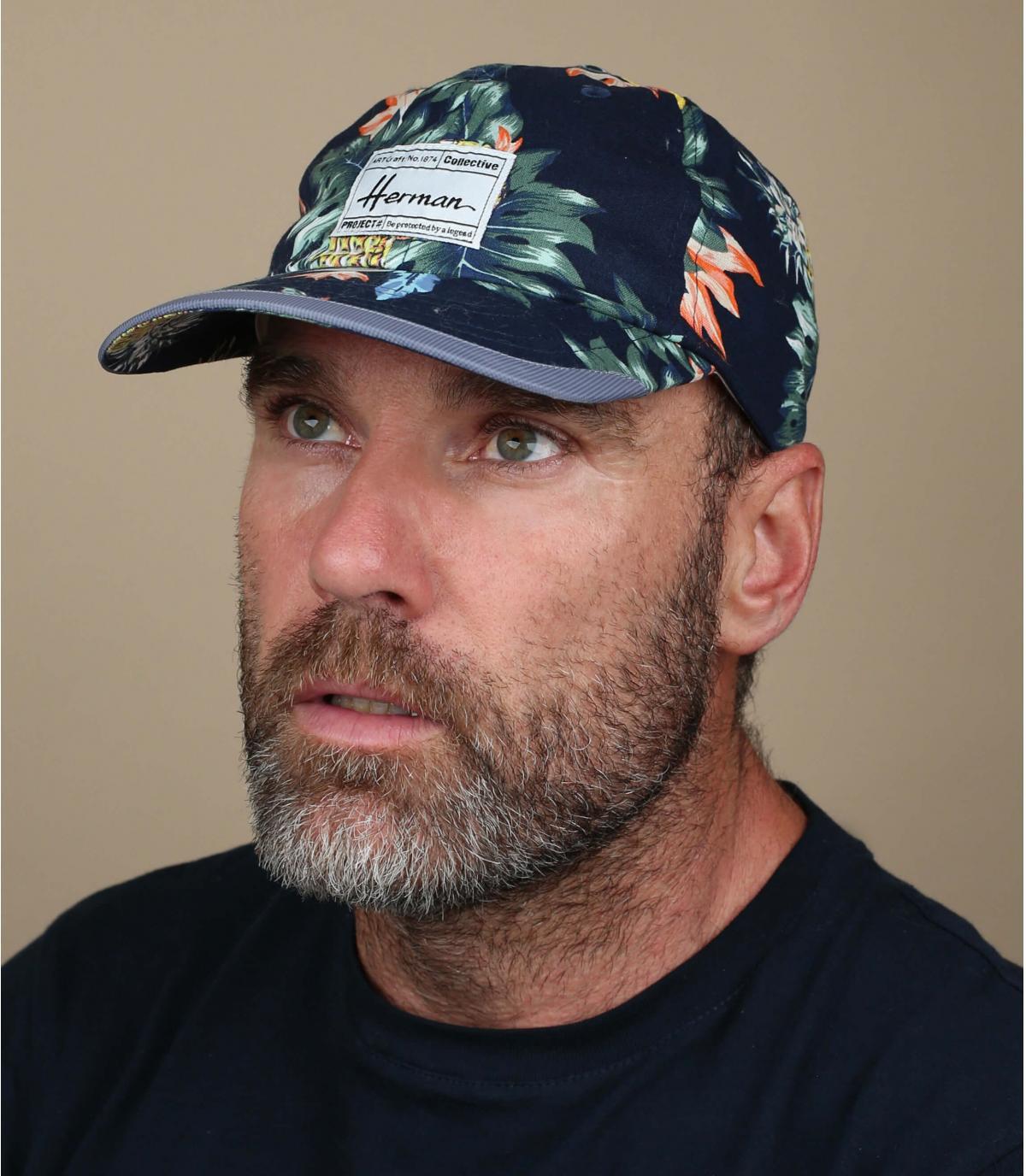 berretto blu tropicale