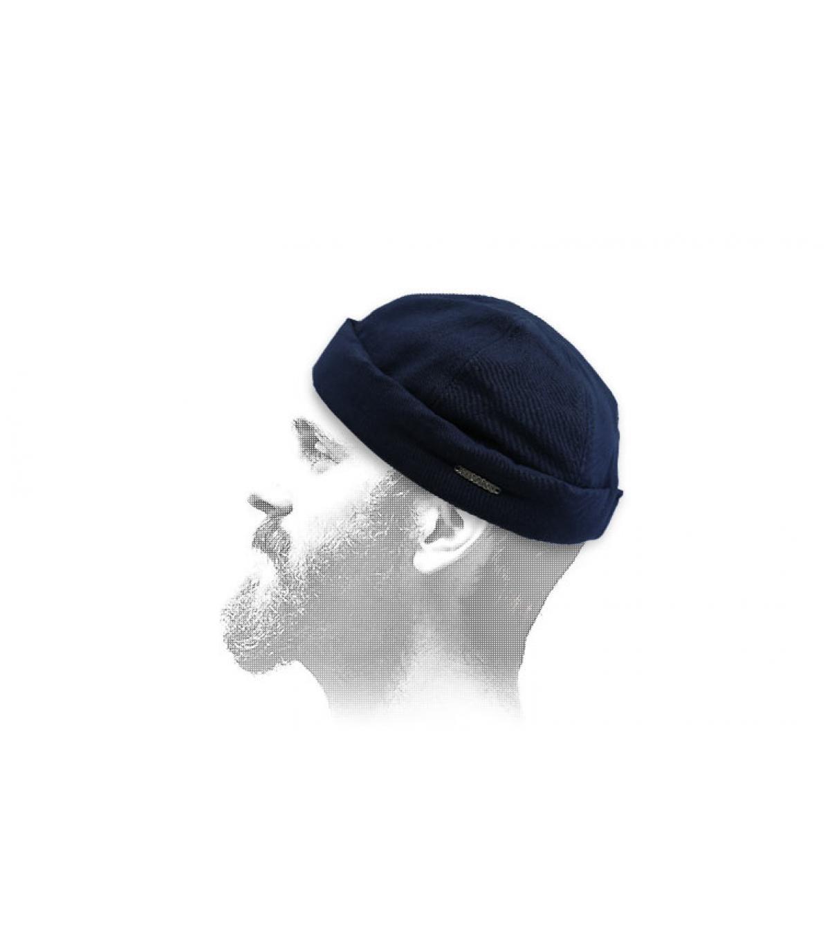 Cappello da marinaio blu Stetson