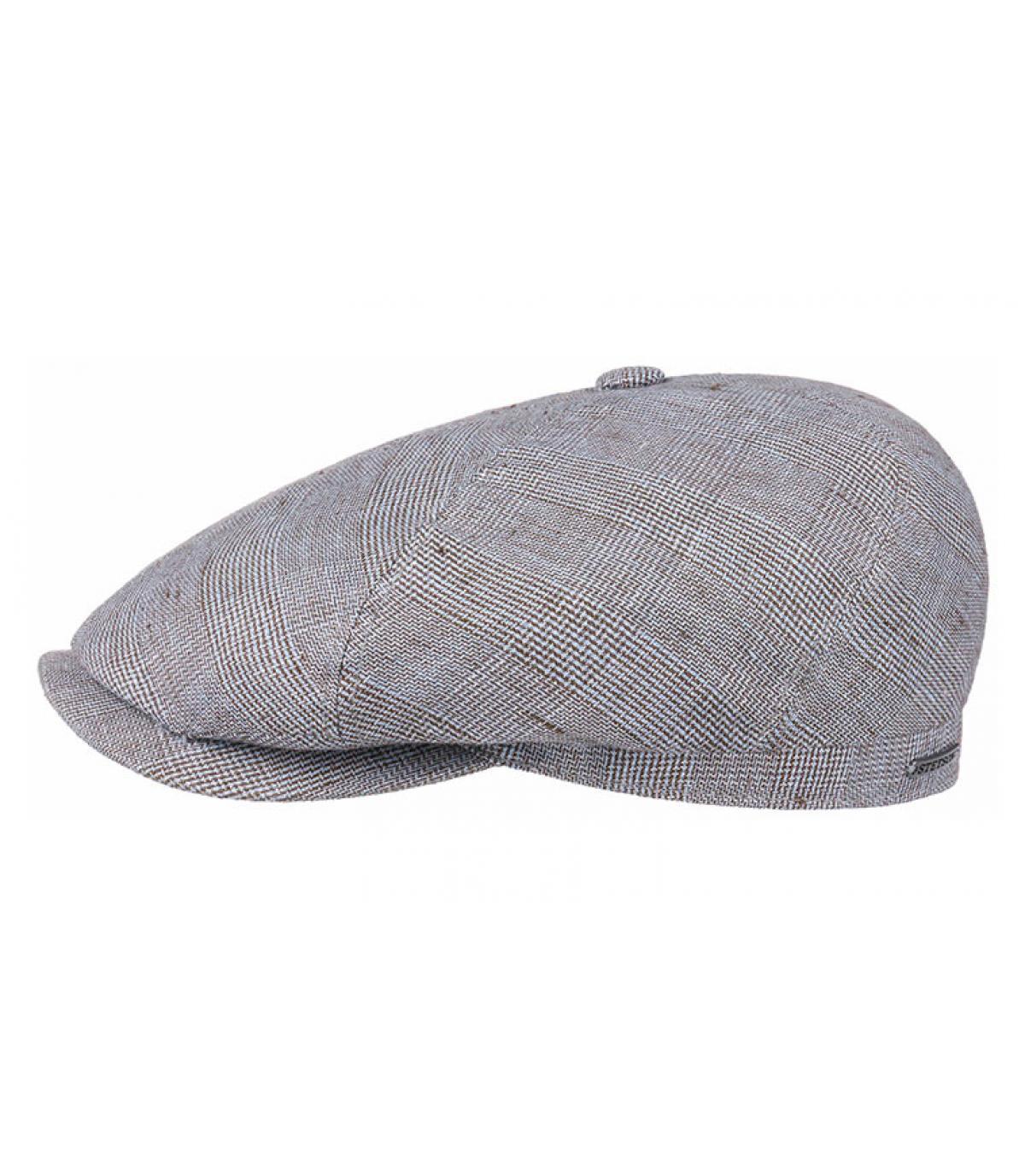 berretto di lino blu
