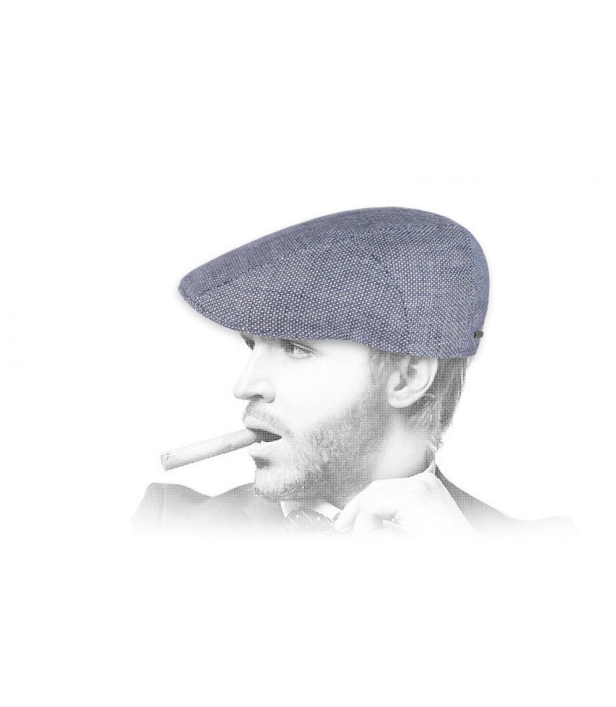 berretto di lino blu Stetson