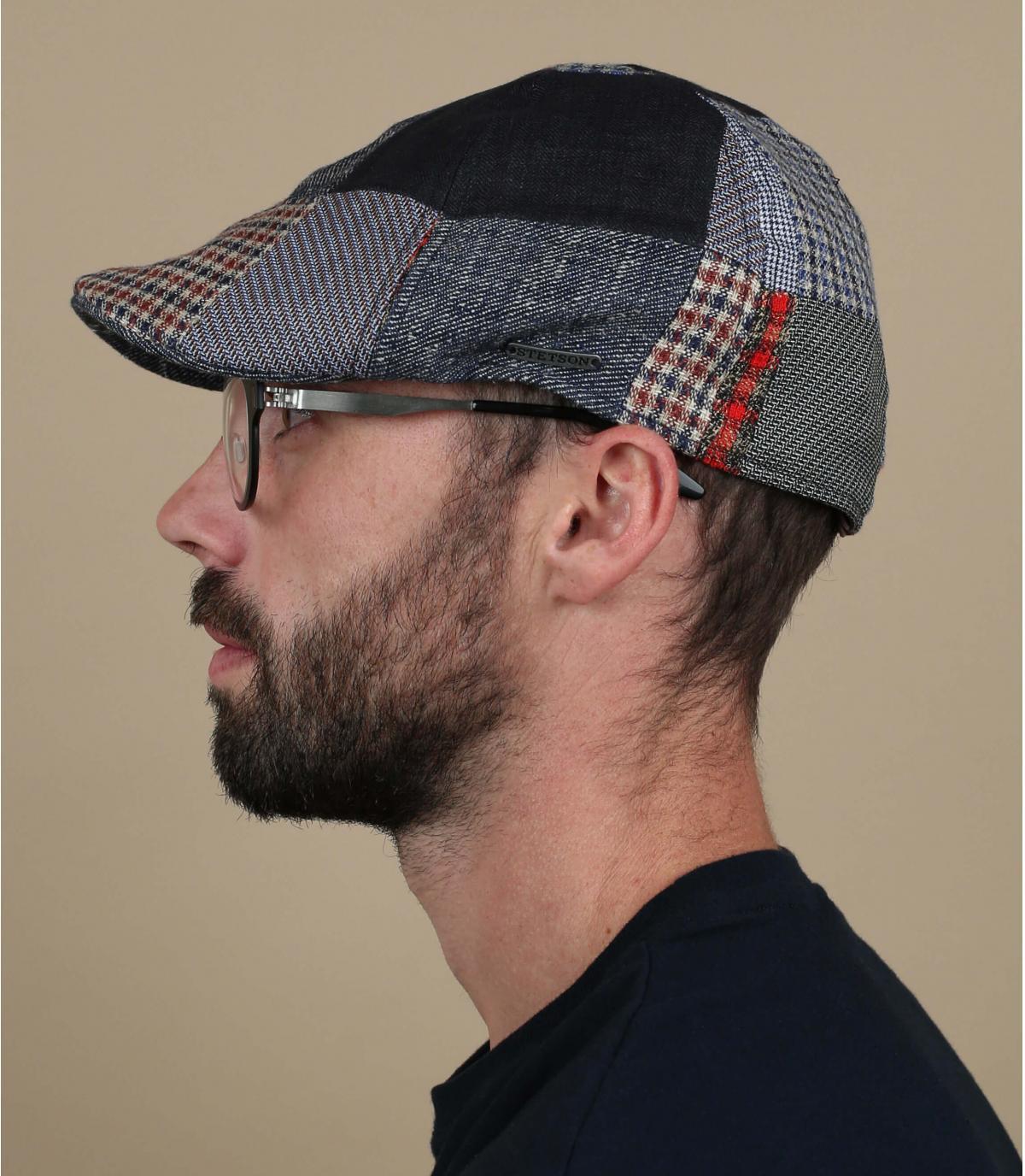 patchwork di becco d'oca berretto