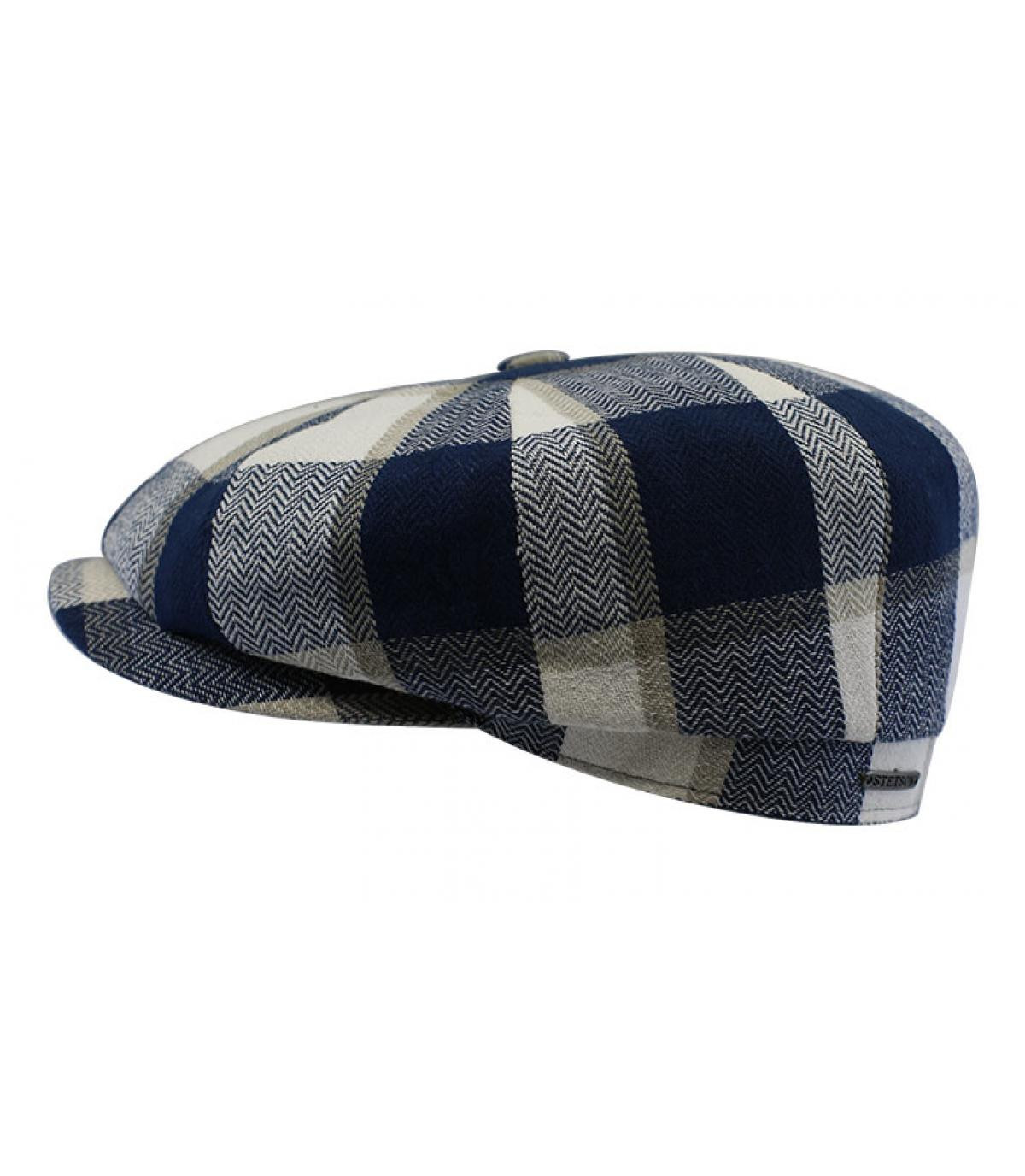 berretto scozzese blu bianco