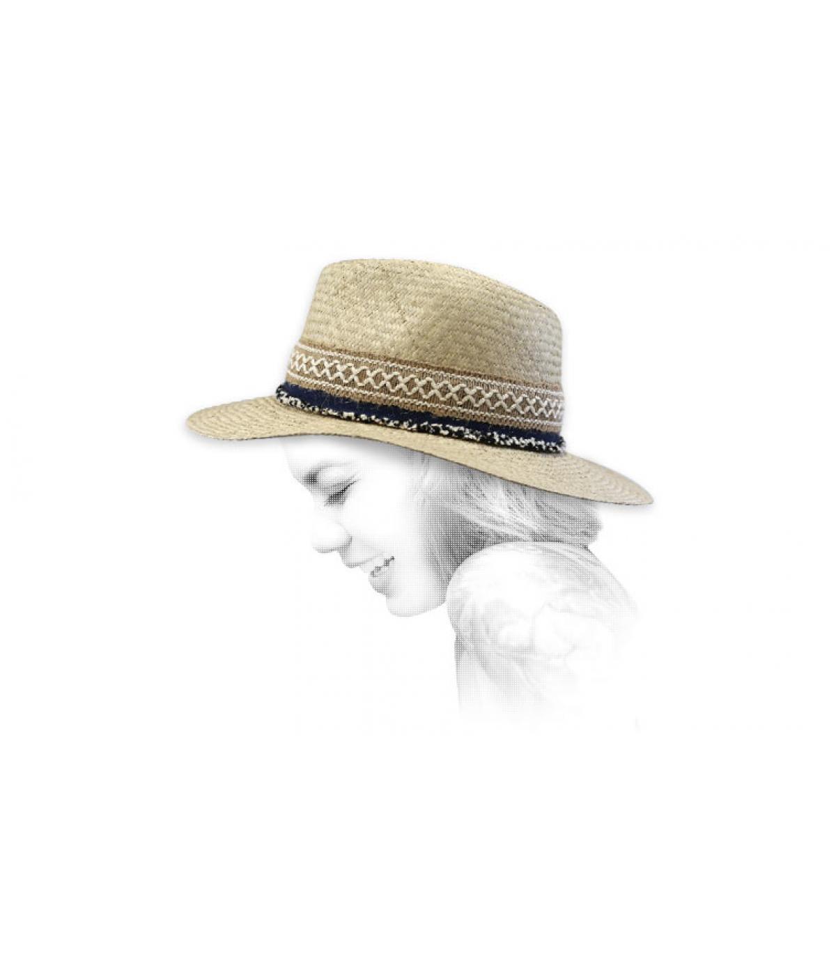 cappello di paglia boho