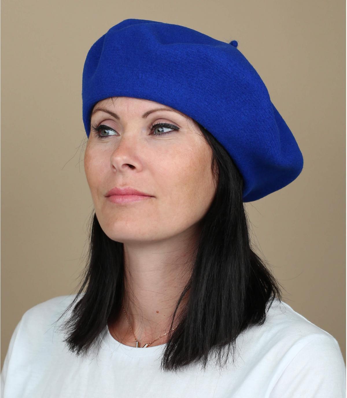 Berretto donna blu
